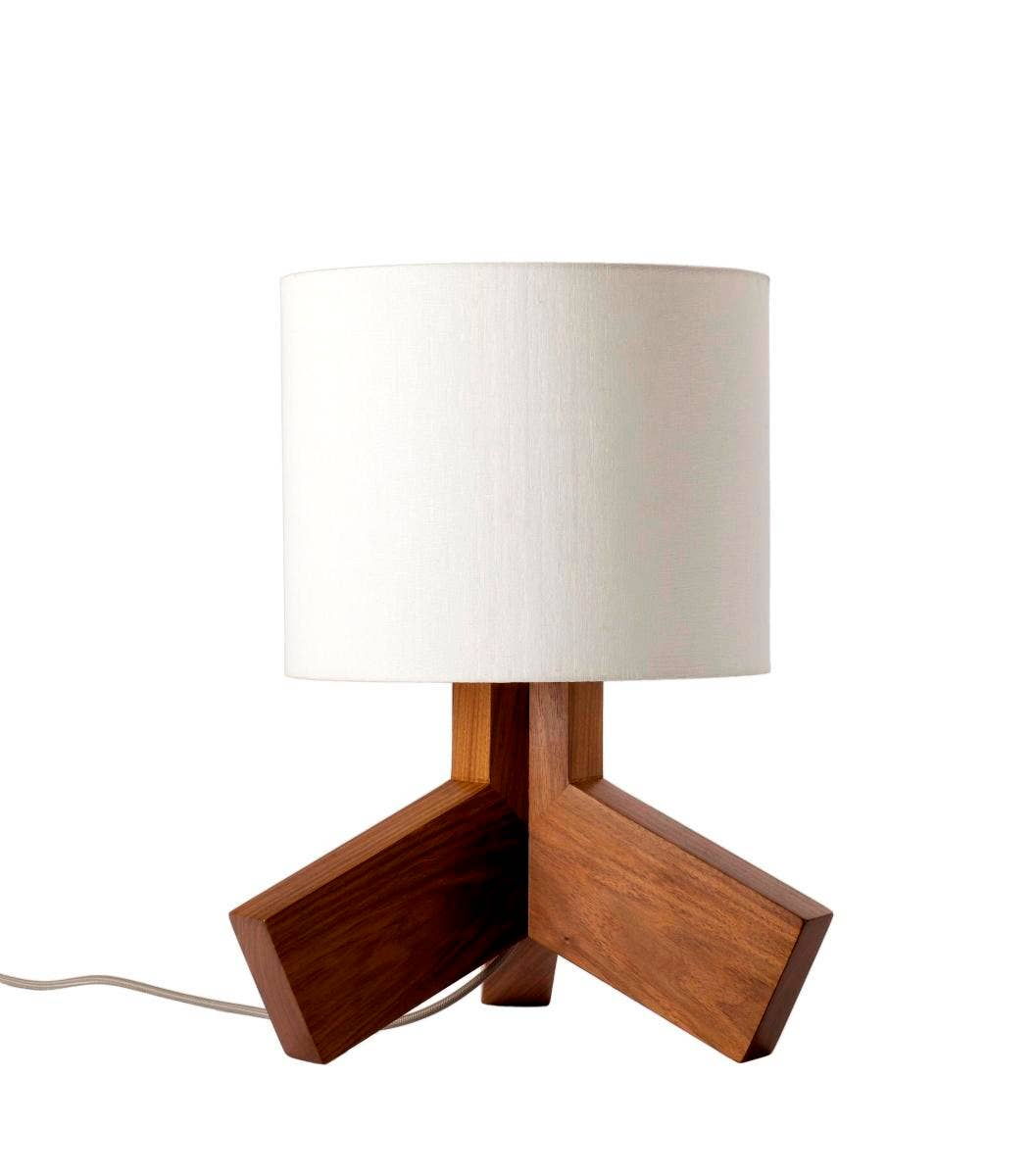 Antique wood table lamps - Rook Lamp