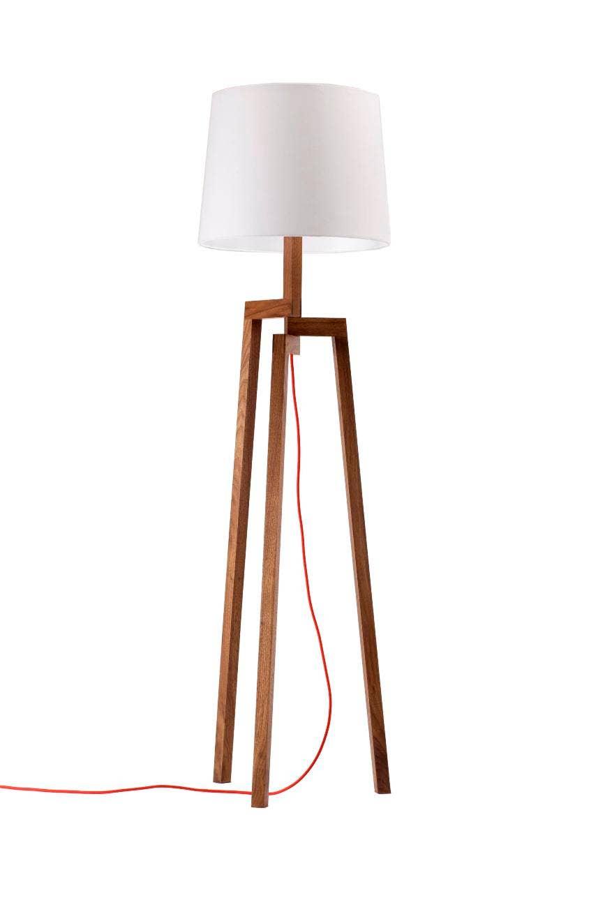 stilt floor lamp in walnut modern lamps blu dot. Black Bedroom Furniture Sets. Home Design Ideas