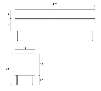 Clad 4 drawer dresser designhouse for Www design house com