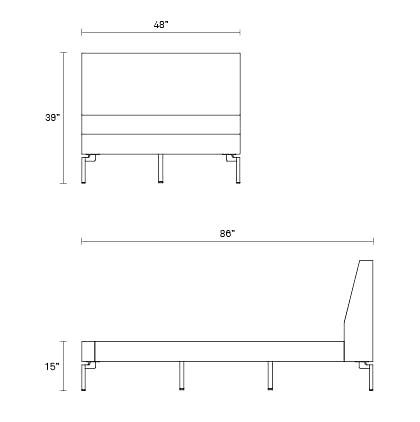 New Standard Twin Bed Upholstered Bed Frame Blu Dot