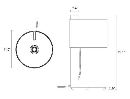 Note table lamp designhouse for Www design house com