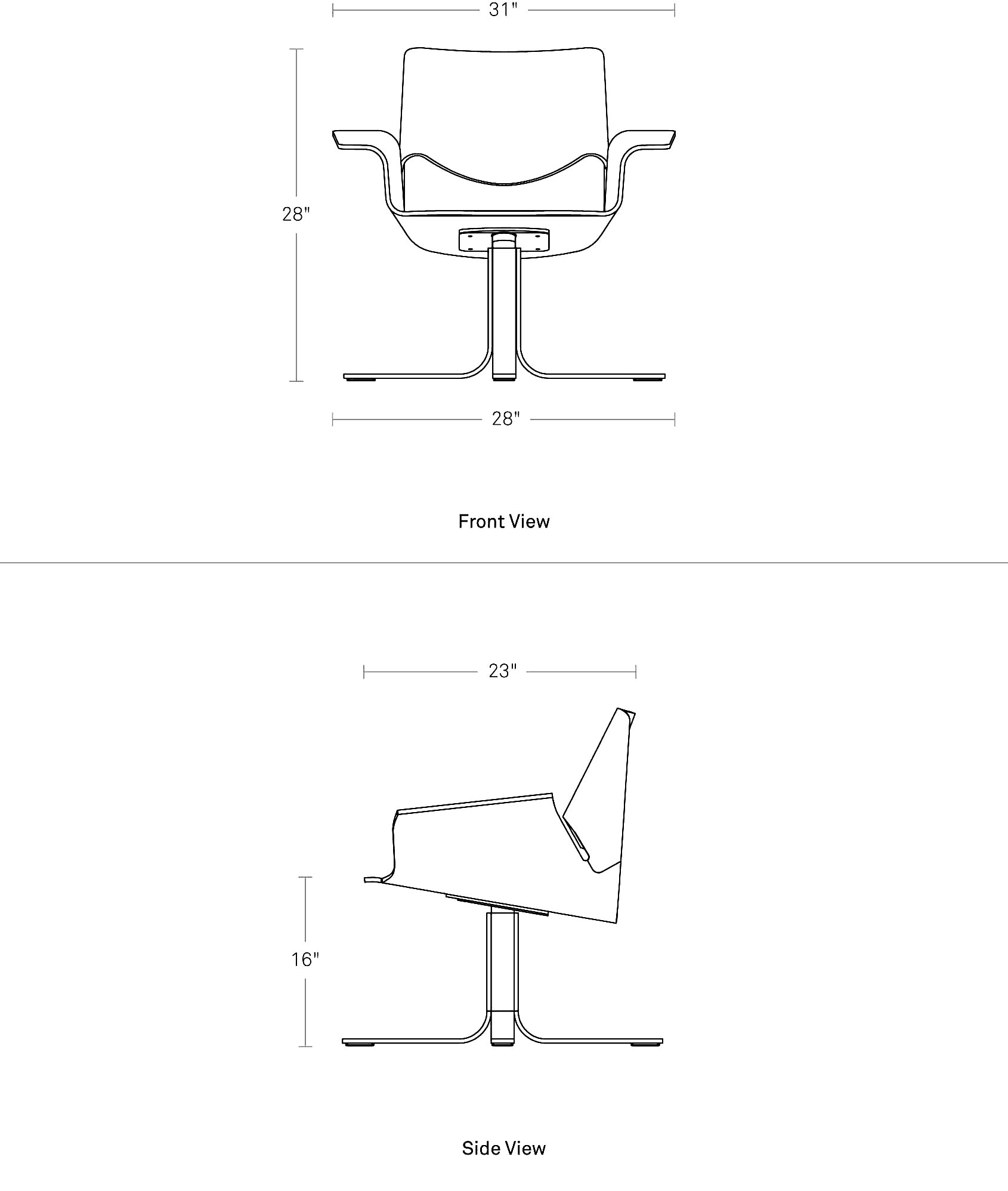 Buttercup Chair Bent Plywood Chair Blu Dot