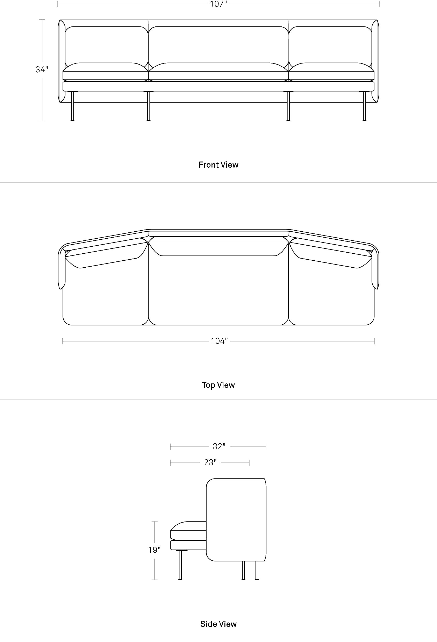 Bloke 107 Sofa Blu Dot