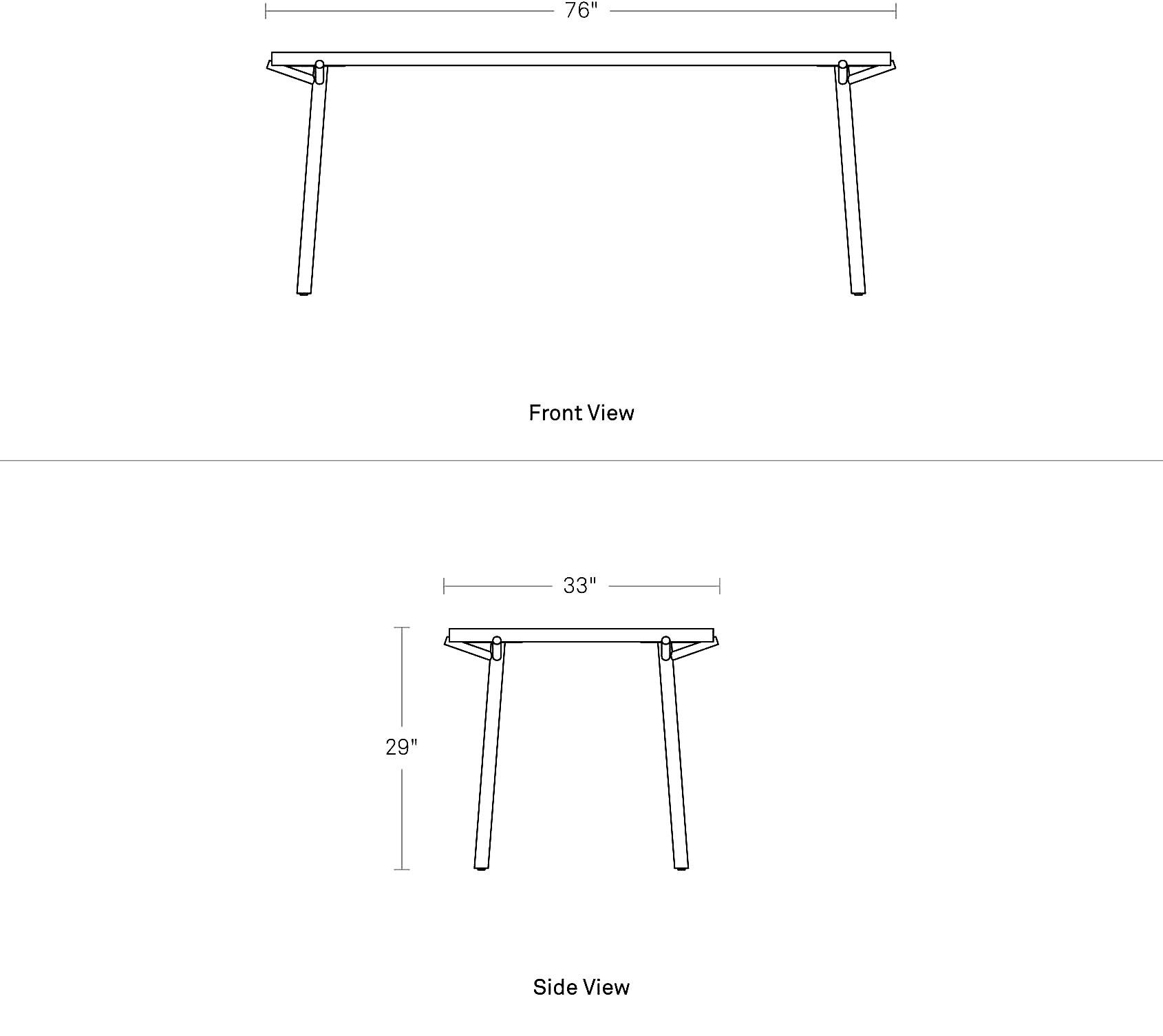 Branch Dining Table Wood Steel Blu Dot