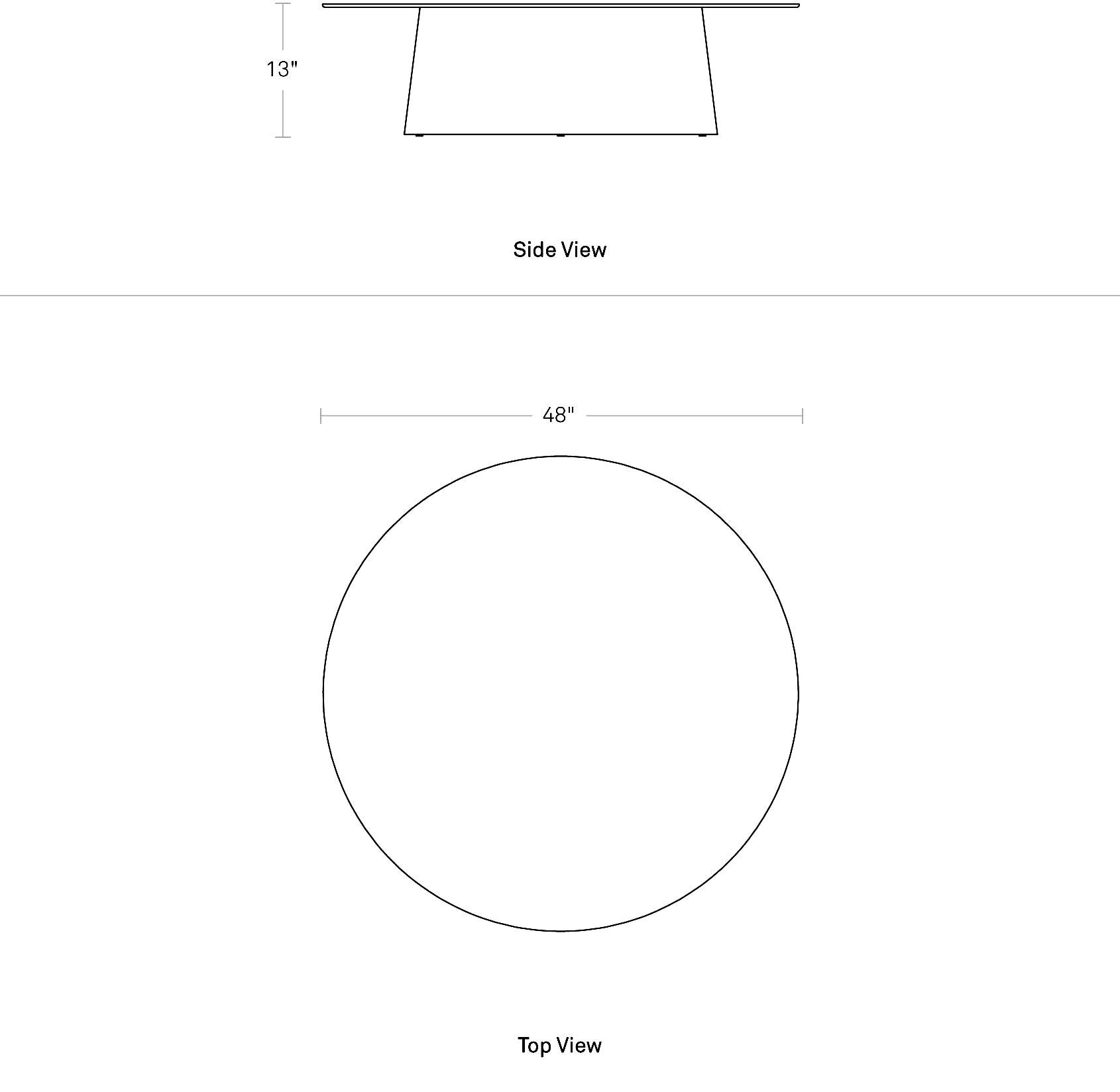 Circula Coffee Table Modern Round Coffee Table Blu Dot