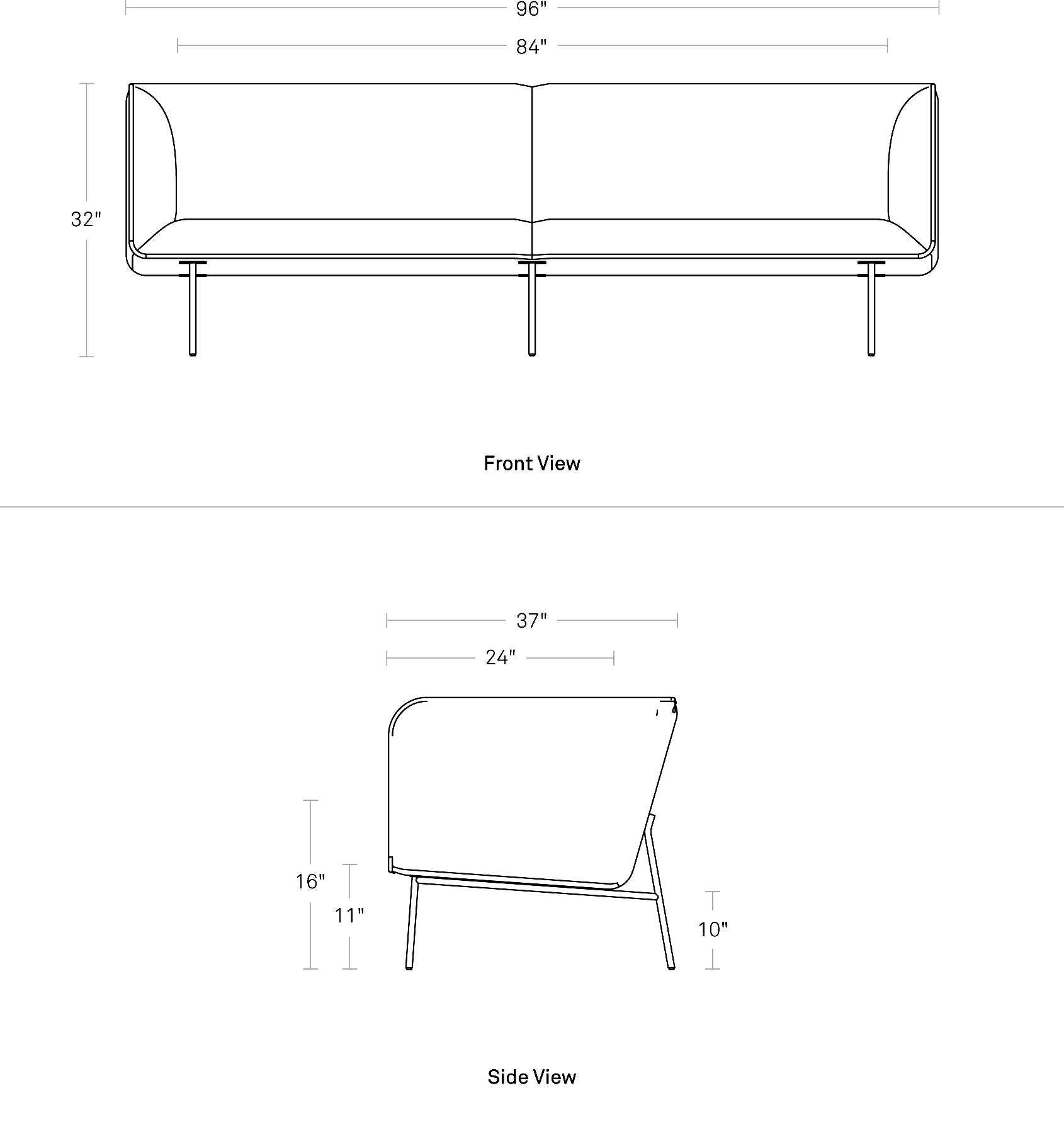 Dandy 96 Quot Leather Sofa Modern Fabric Sofa Blu Dot