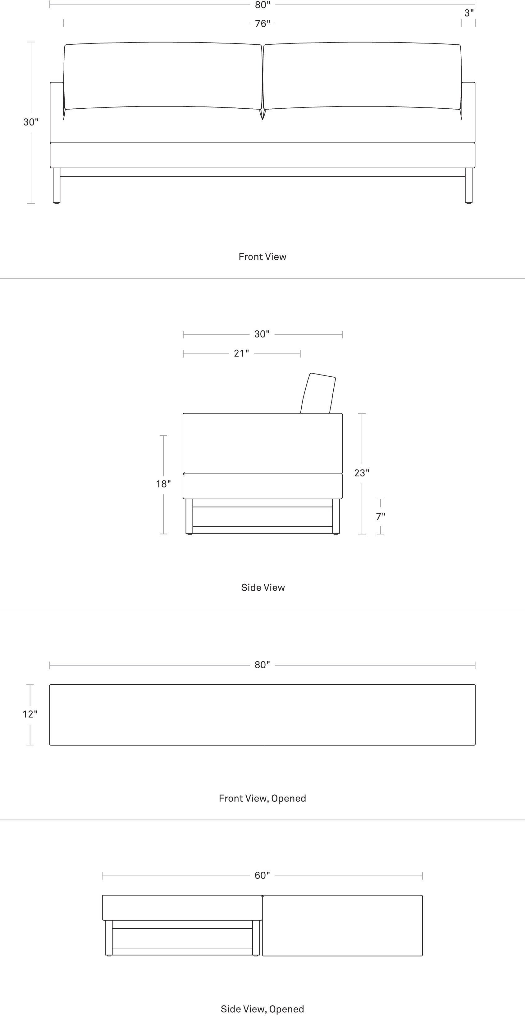 Sleeper Sofa Diplomat Convertible Sofa Blu Dot