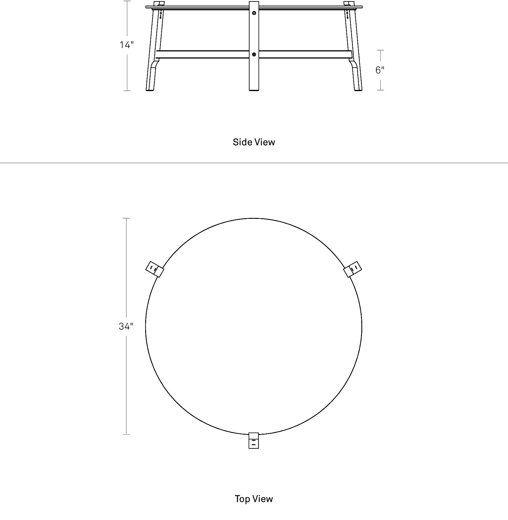Standard Size Of Round Coffee Table: Free Range Coffee Table - Round Marble Coffee Table