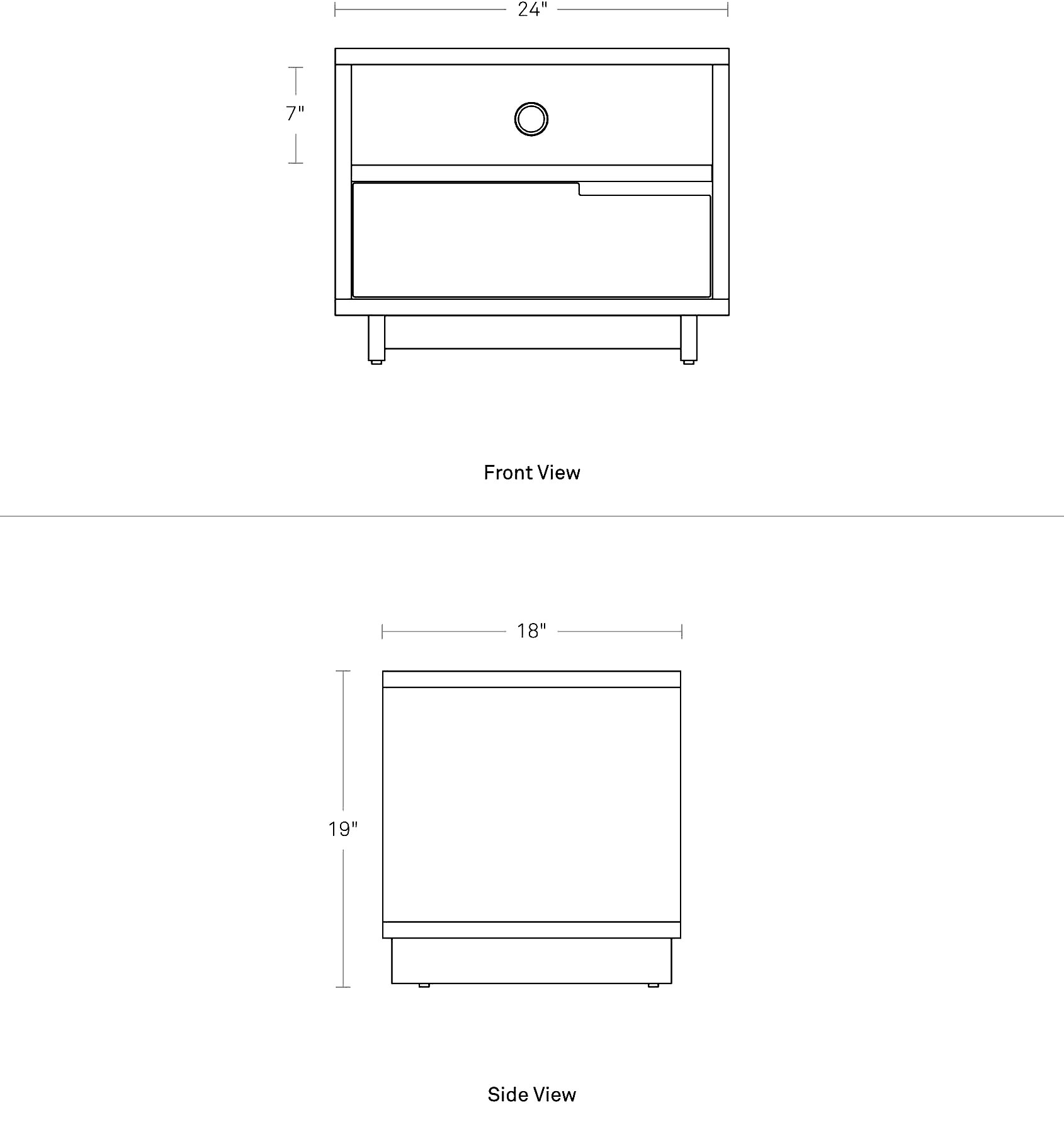 Modu Licious Bedside Table Modern Bedside Table Blu Dot