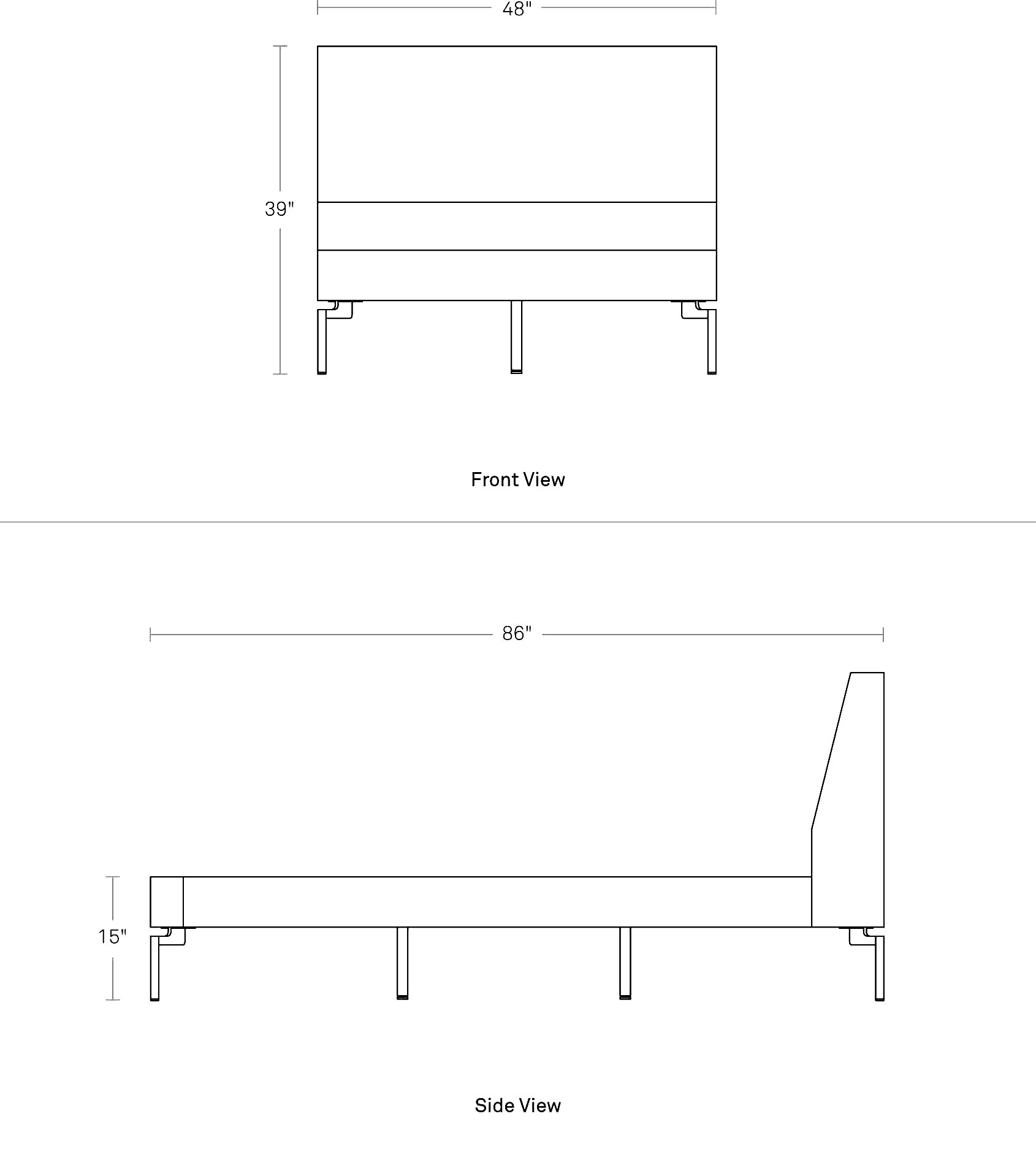 Upholstered Twin Bed - New Standard Twin Bed