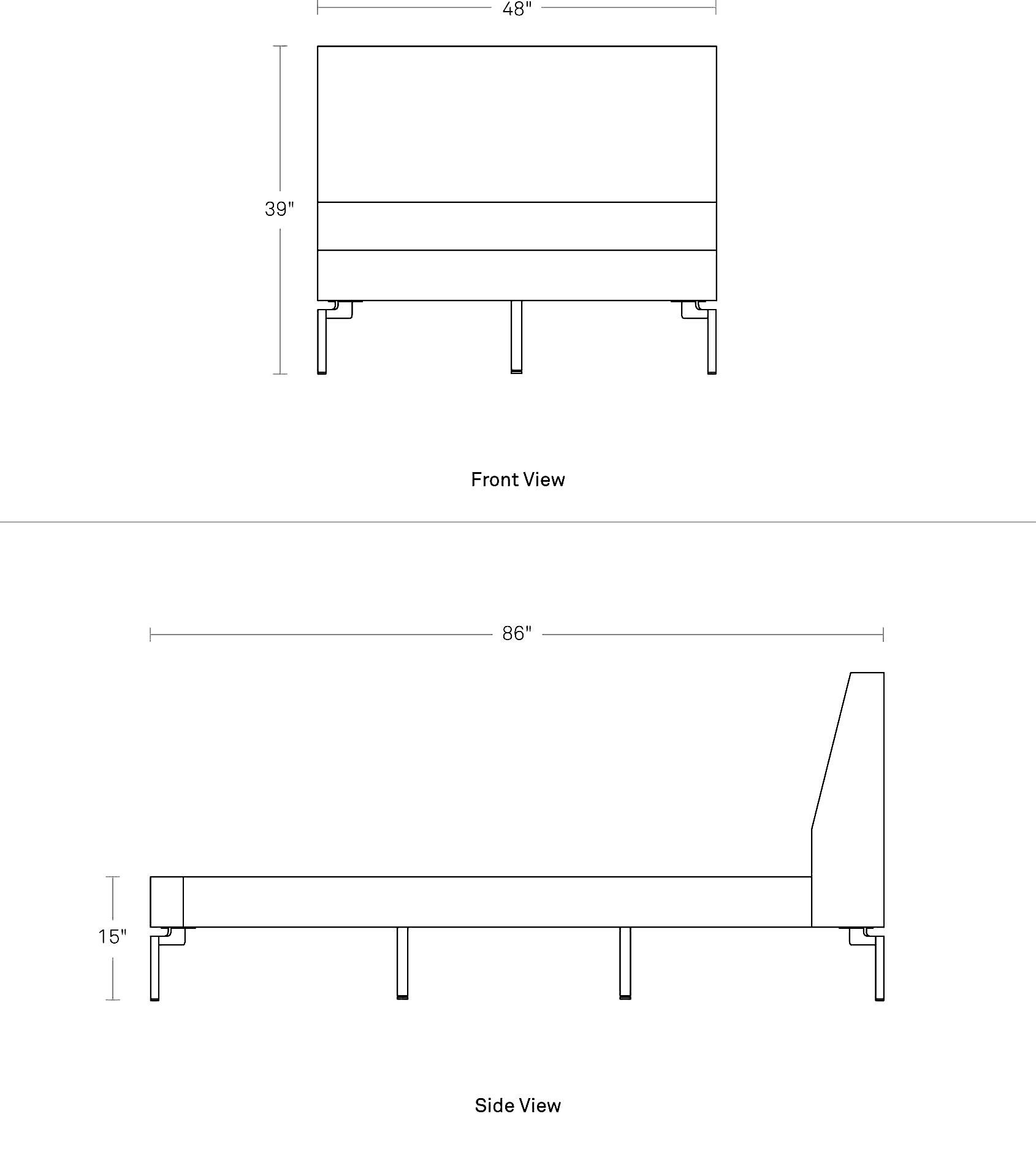 upholstered twin bed new standard twin bed blu dot. Black Bedroom Furniture Sets. Home Design Ideas