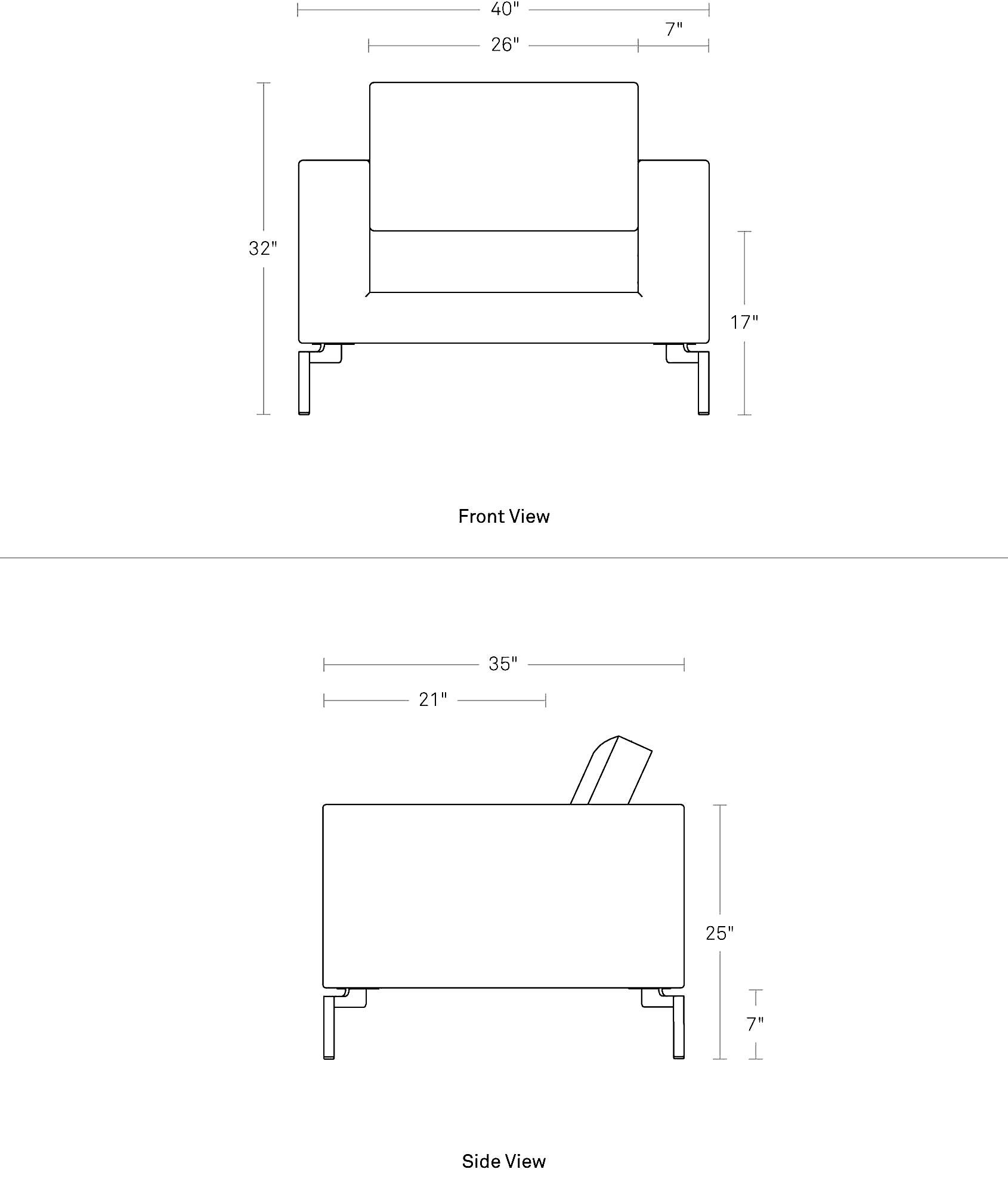 Terrific New Standard Lounge Chair Modern Lounge Chairs Blu Dot Alphanode Cool Chair Designs And Ideas Alphanodeonline
