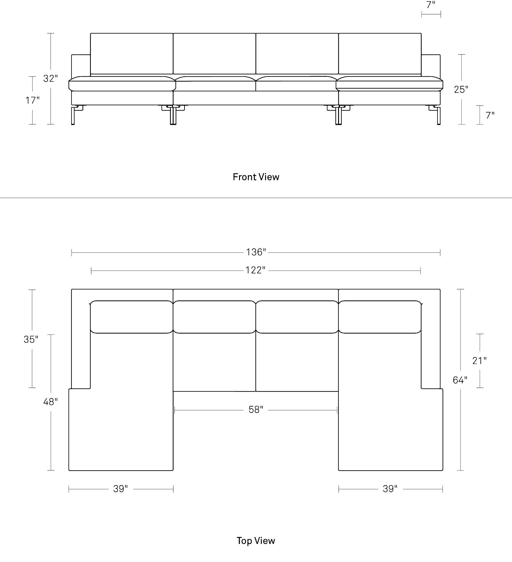 New Standard - Modern U-Shaped Sectional Sofa | Blu Dot