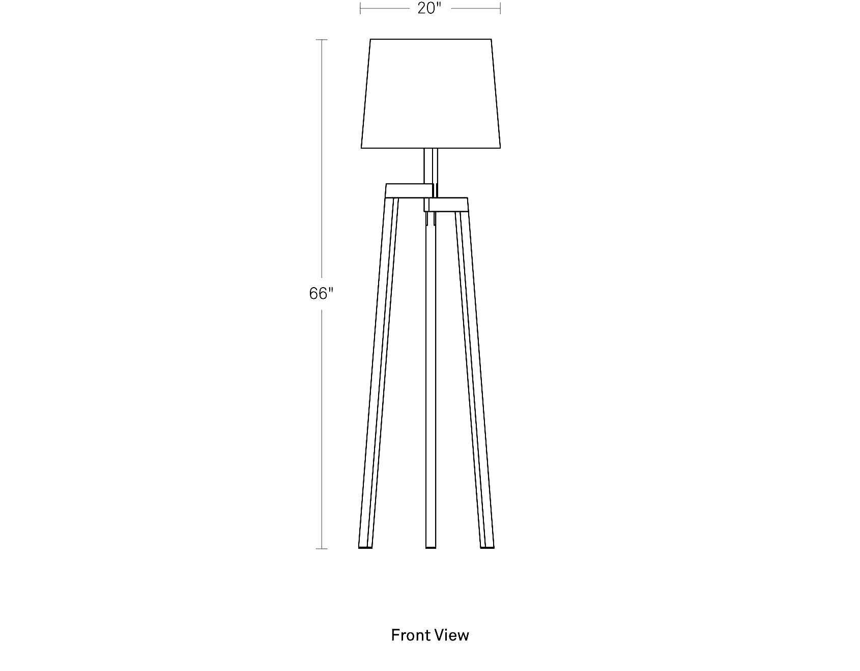 Stilt Floor Lamp Modern Tripod Floor Lamp Blu Dot