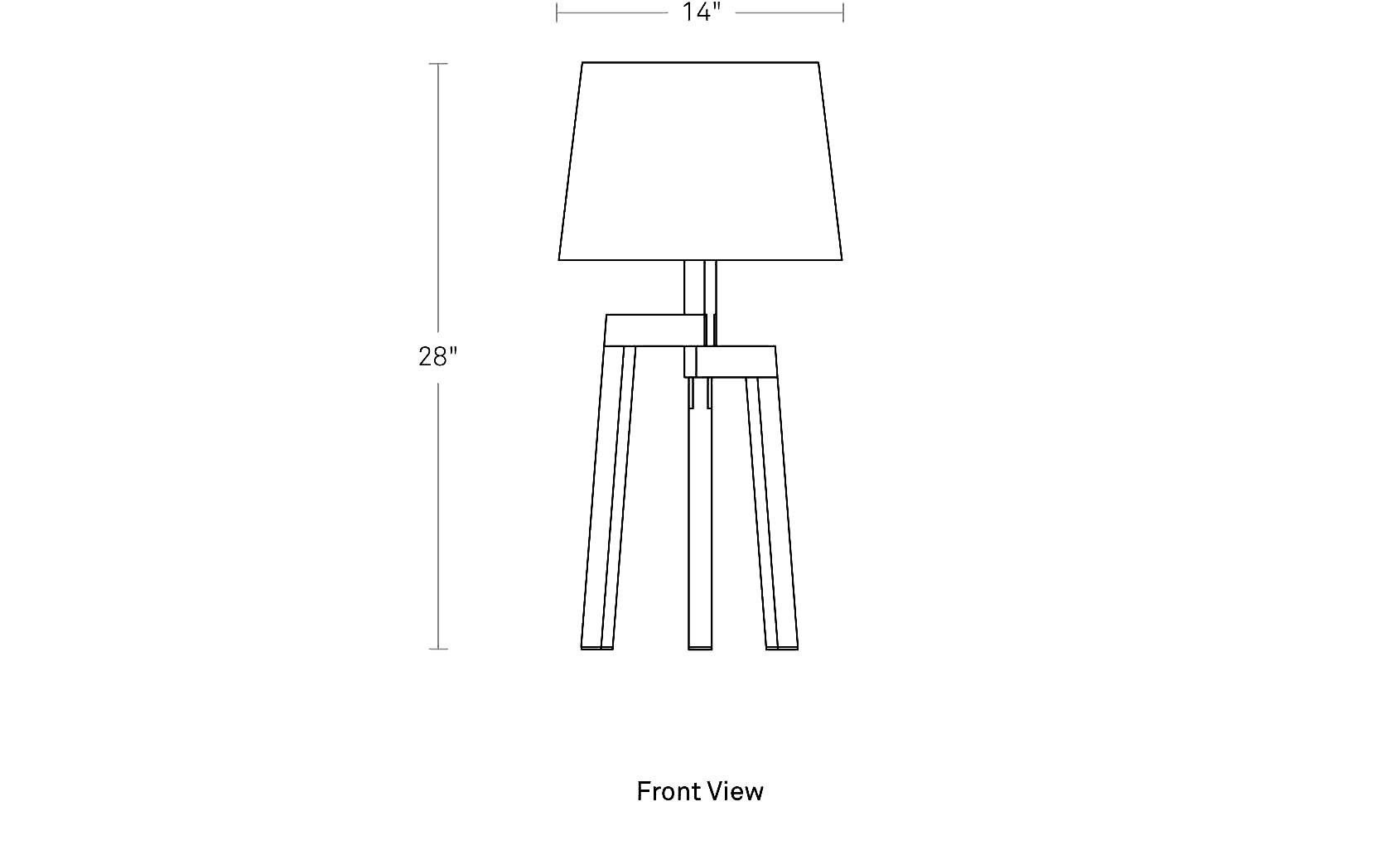 Stilt Table Lamp Tripod Table Lamp Blu Dot