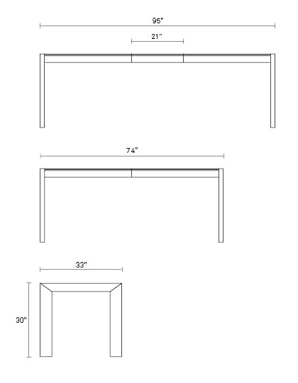 Second Best Modern Extension Dining Table Blu Dot