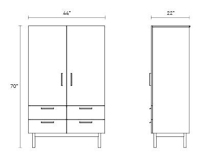 Shale wardrobe designhouse for Www design house com