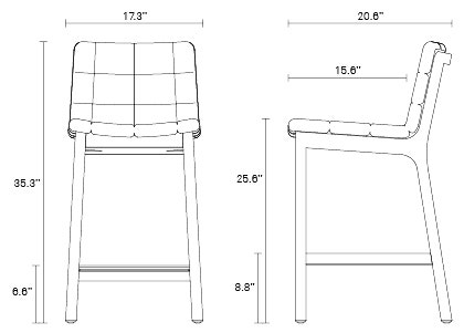Wicket Counter Stool Tufted Counter Stools Blu Dot