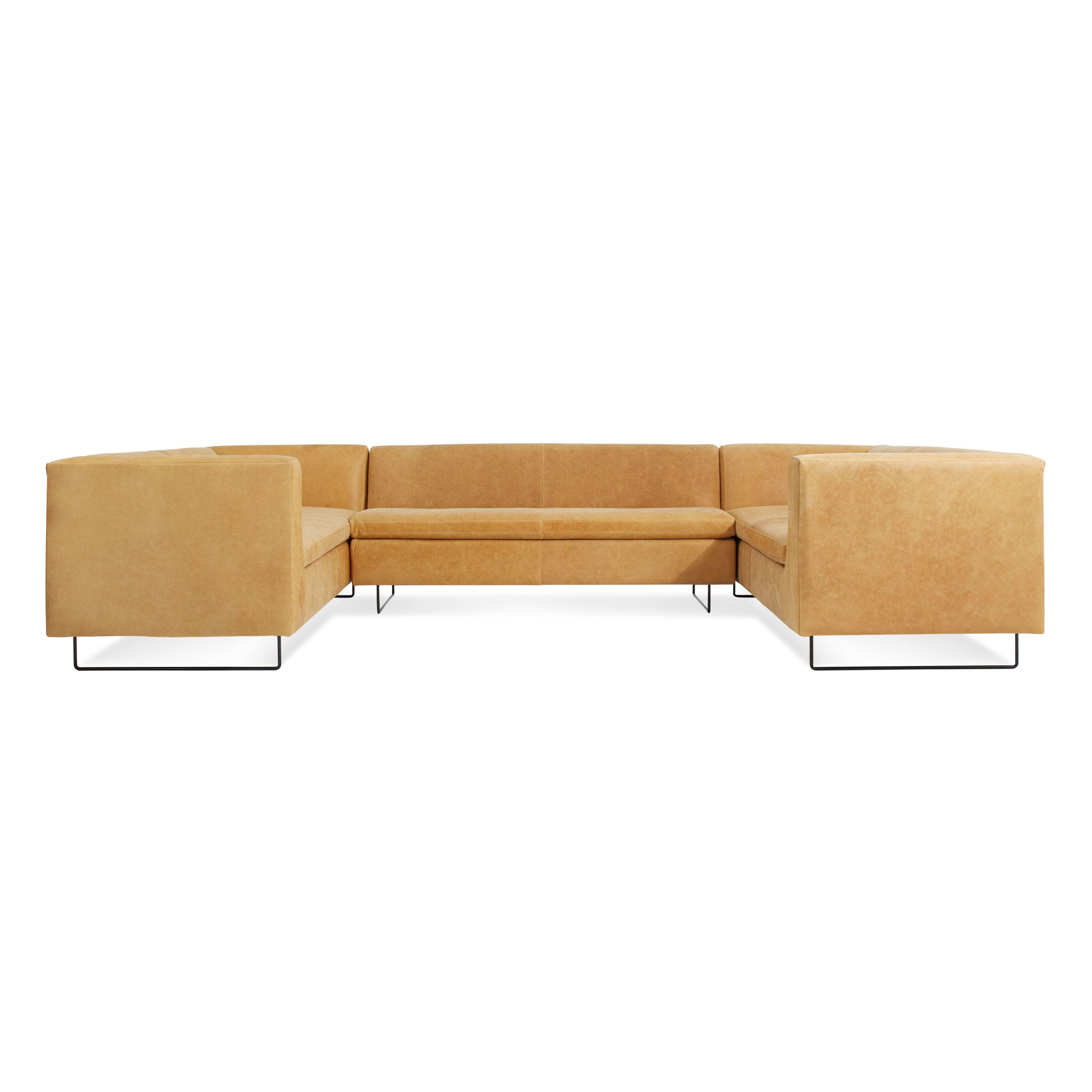 Bonnie & Clyde U Shaped Leather Sectional Sofa