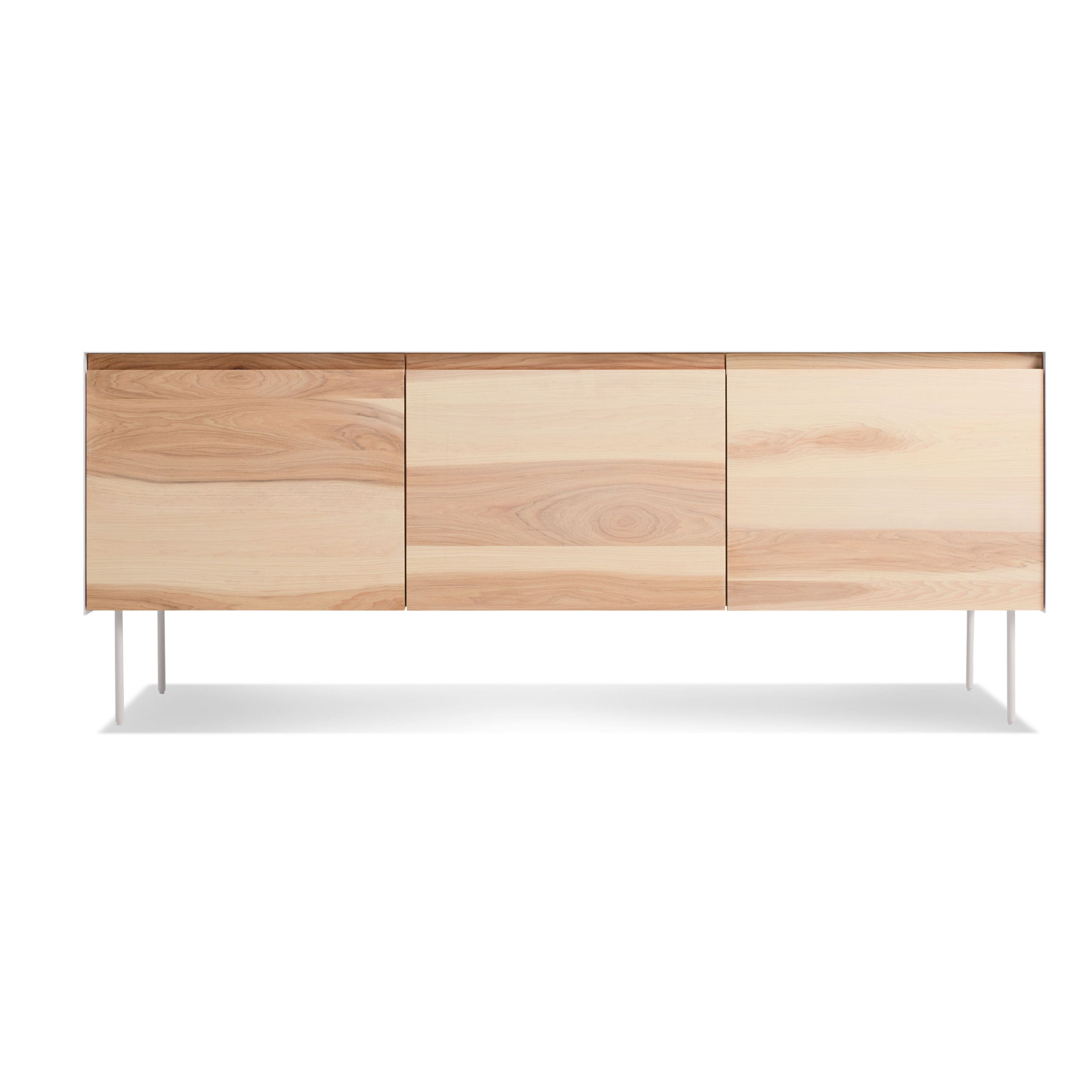 clad  door credenza  modern media cabinet and credenza  blu dot - previous image clad  door credenza  hickory  white