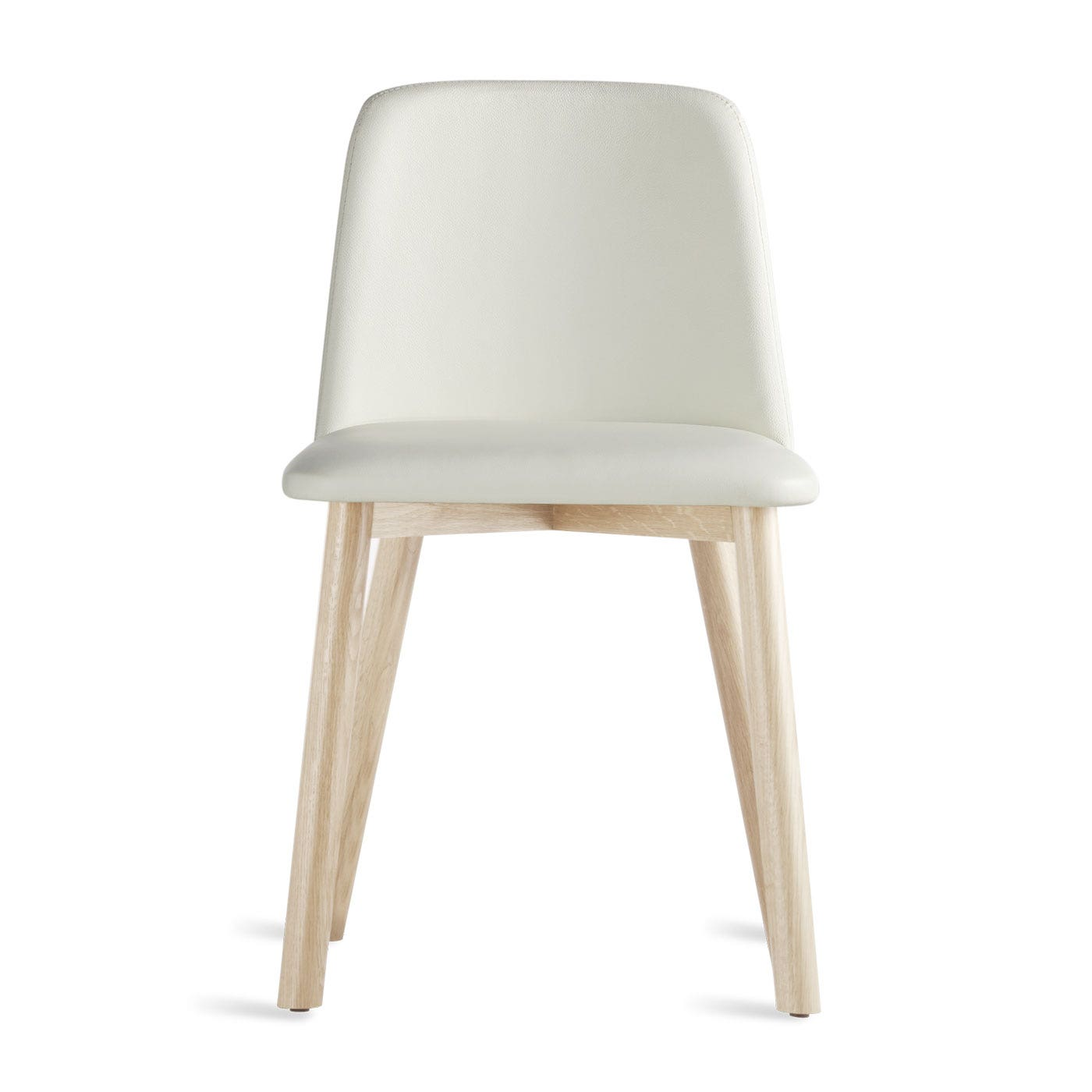 White Leather Dining Chairs Modern Winda 7 Furniture