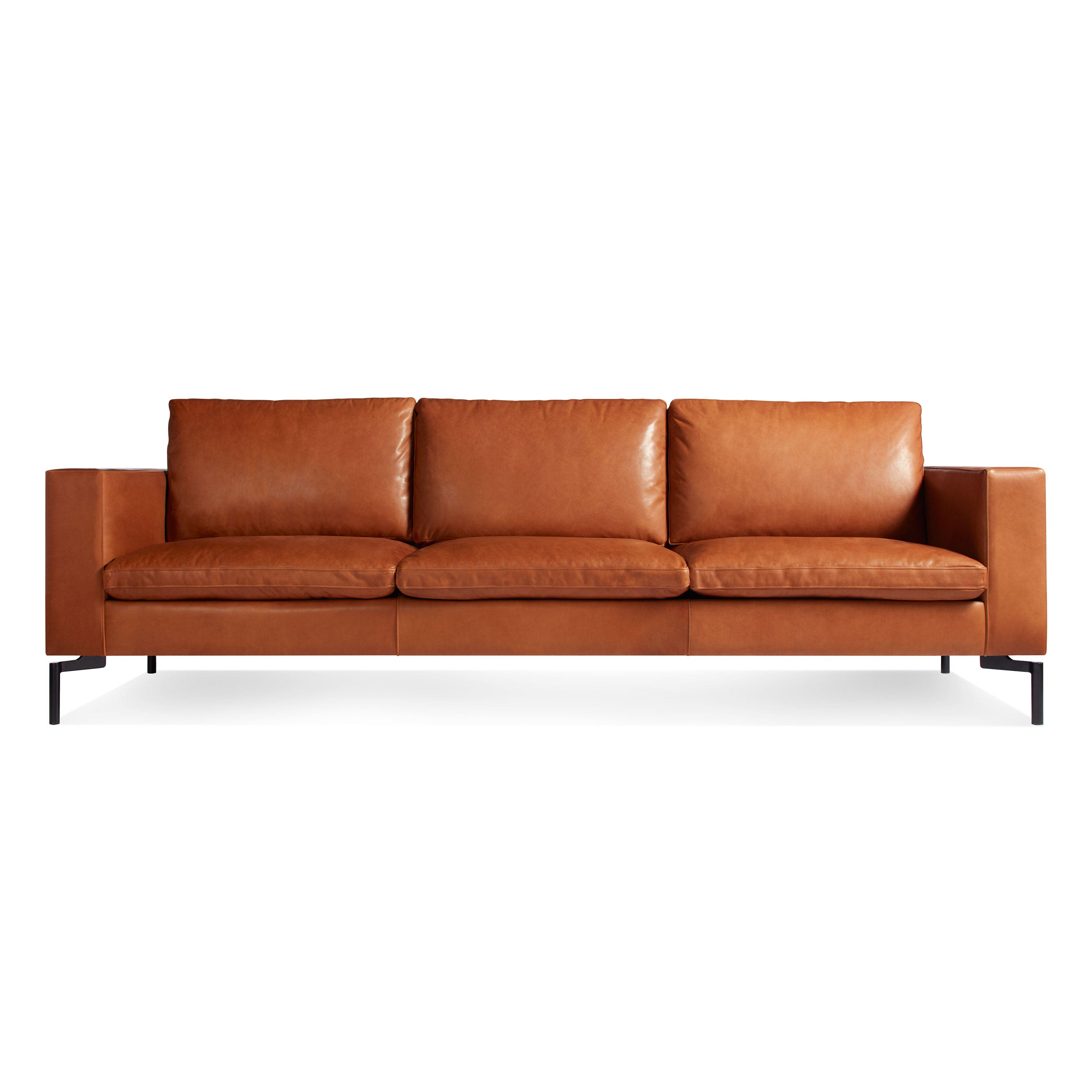 new standard  modern leather sofa  blu dot - previous image new standard modern black leather sofa