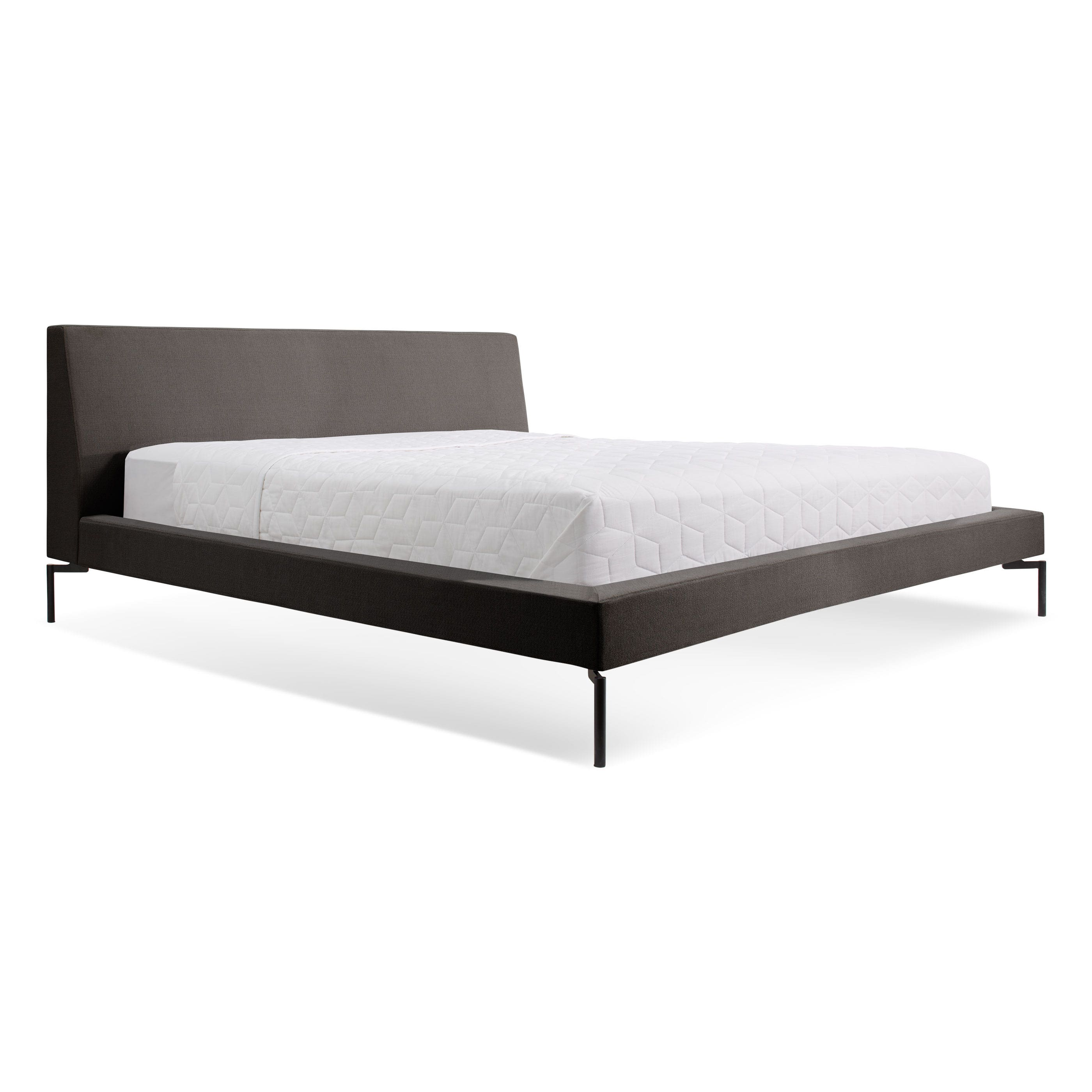 previous image new standard black king bedframe with black legs