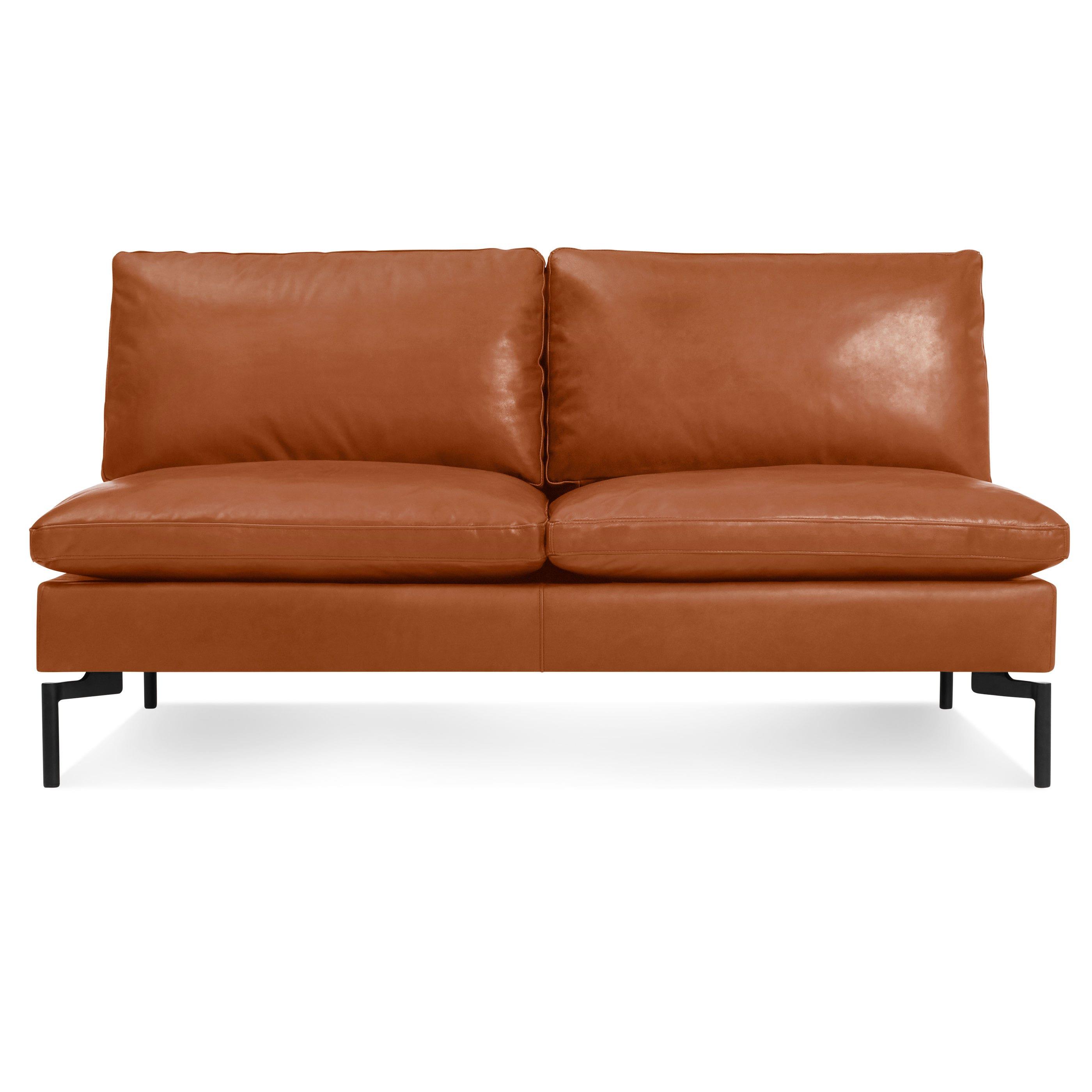 New Standard Armless Leather Sofa