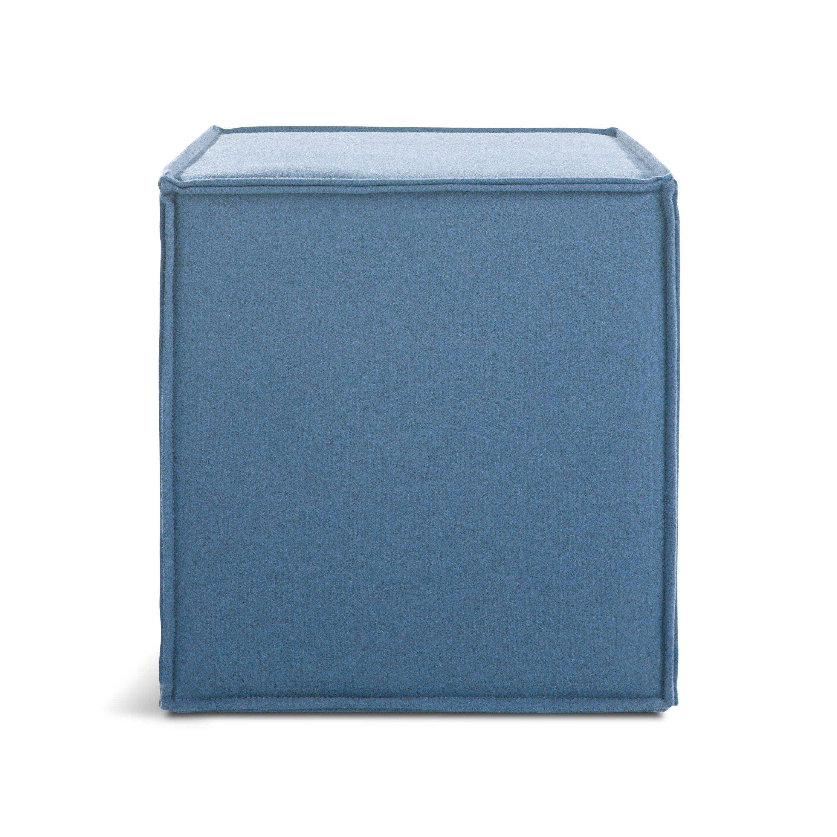 otto cube ottoman  modern cube ottoman  blu dot - previous image otto ottoman  thurmond marine blue