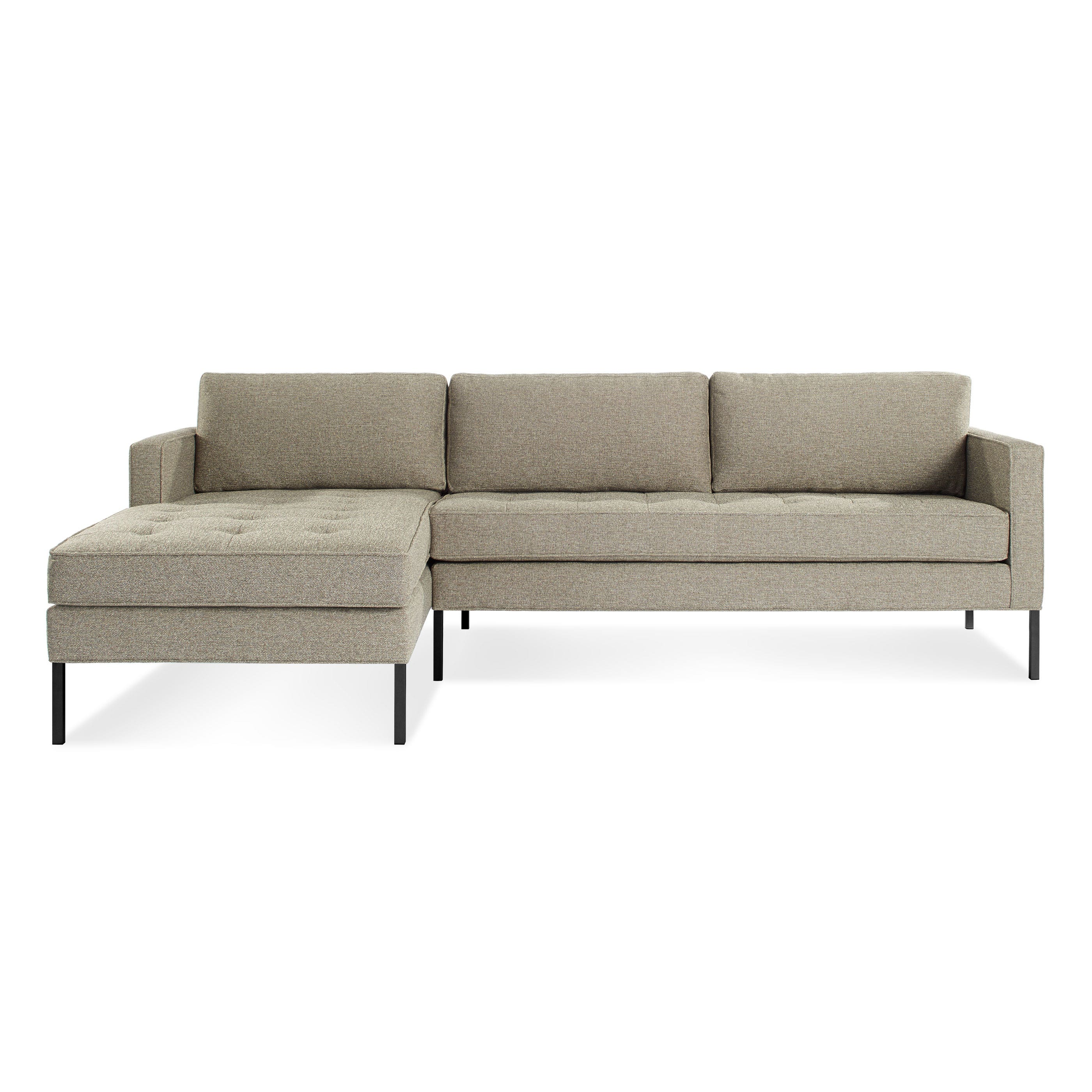 Modern chaise sofa - Previous Image Paramount Modern Right Chaise Sectional
