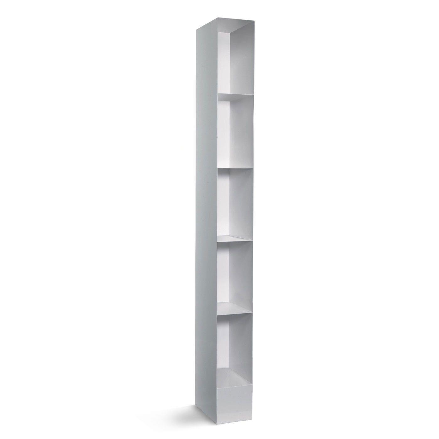 previous image totem white modern narrow bookcase next image