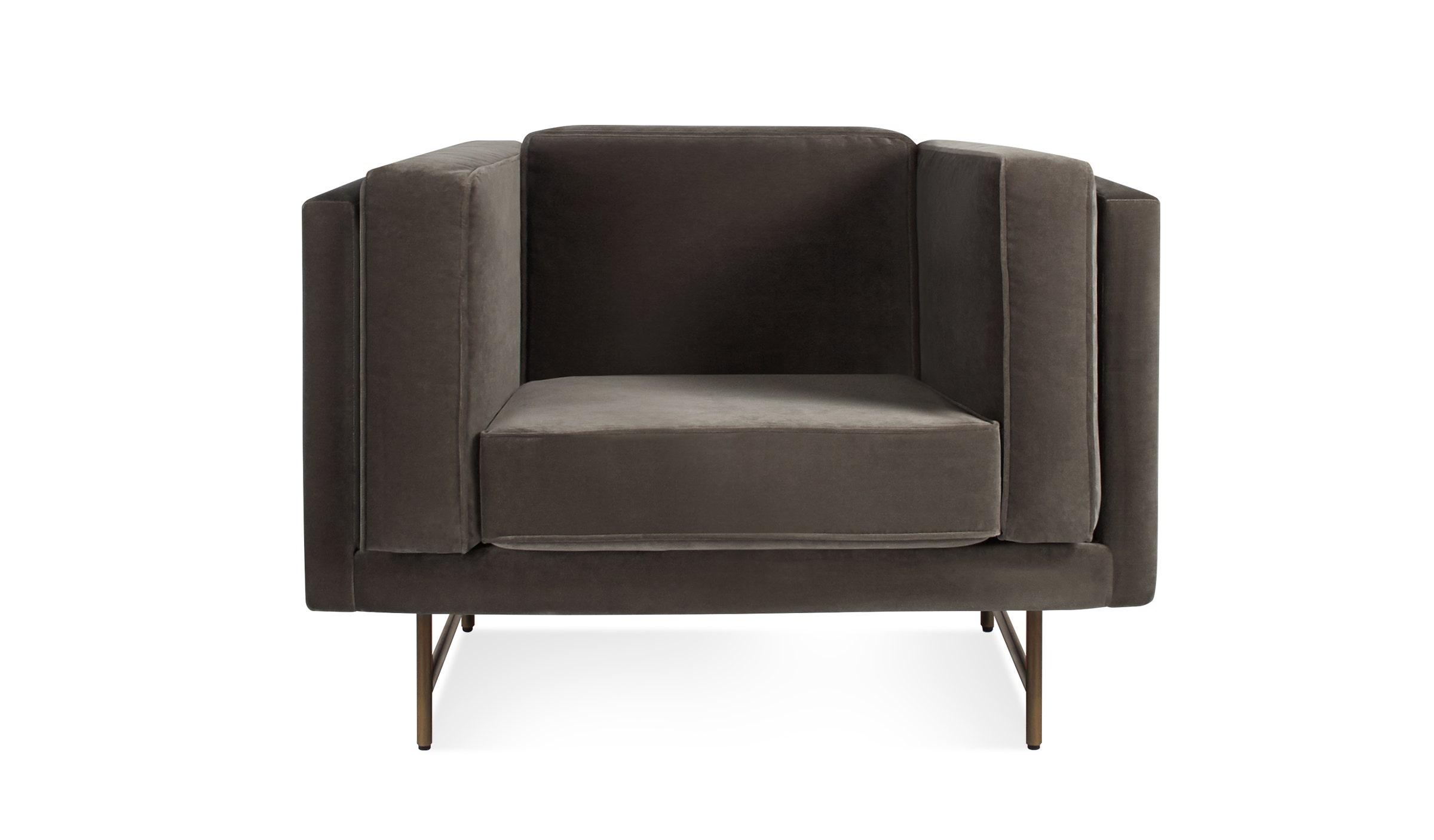 bank mink velvet chair velvet lounge chair blu dot