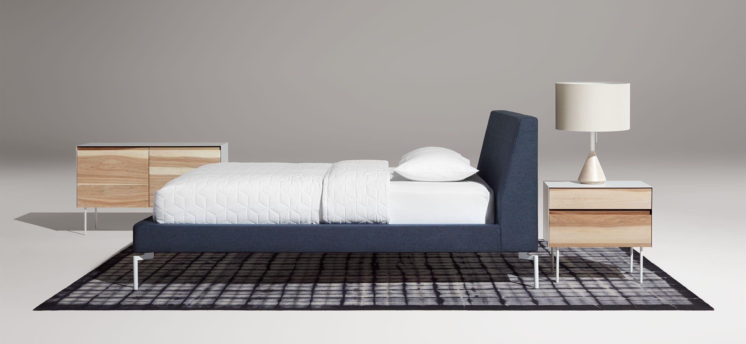 New Standard Queen Bed - Upholstered Bed Frame | Blu Dot