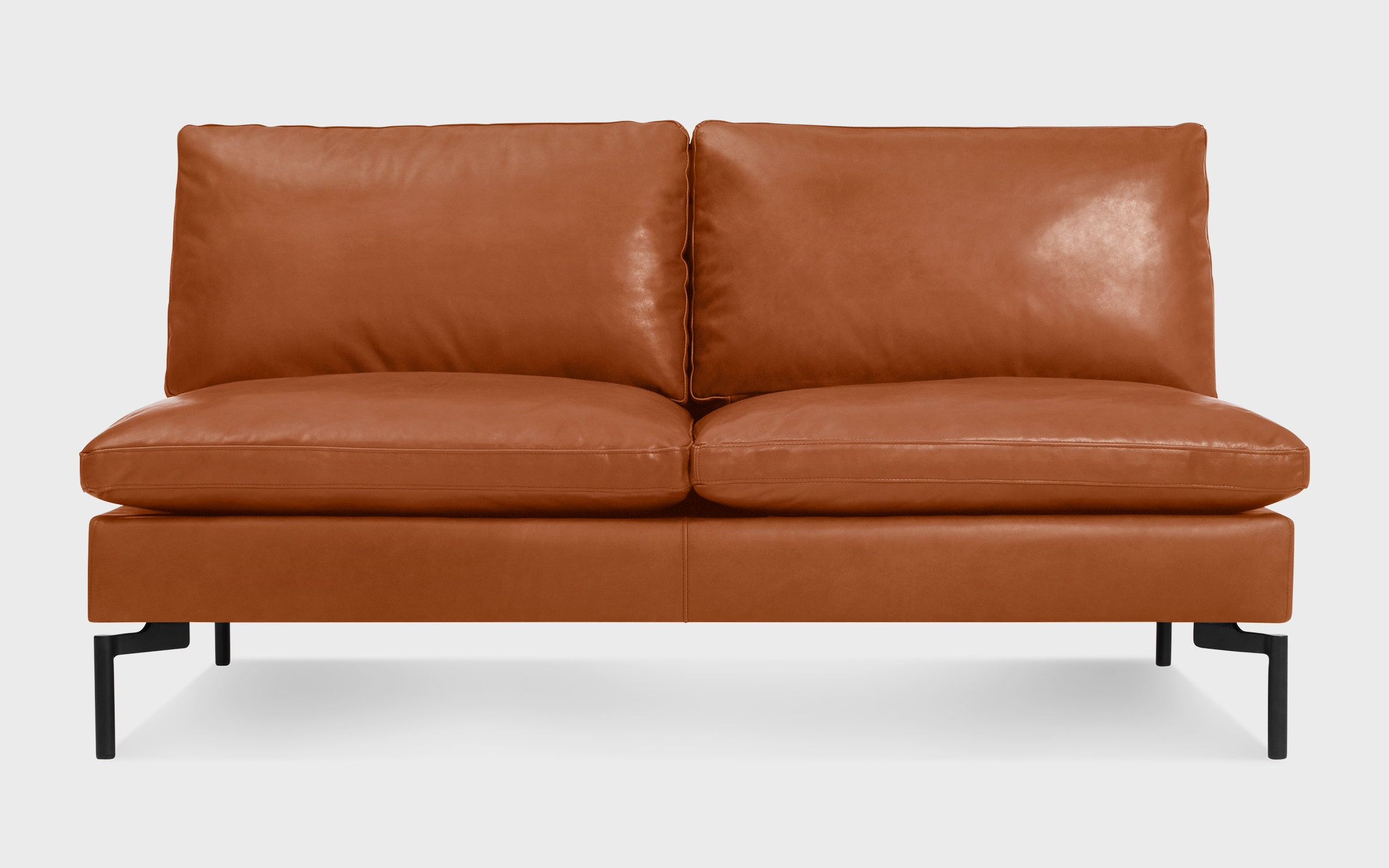 Miraculous New Standard 60 Armless Leather Sofa Ncnpc Chair Design For Home Ncnpcorg