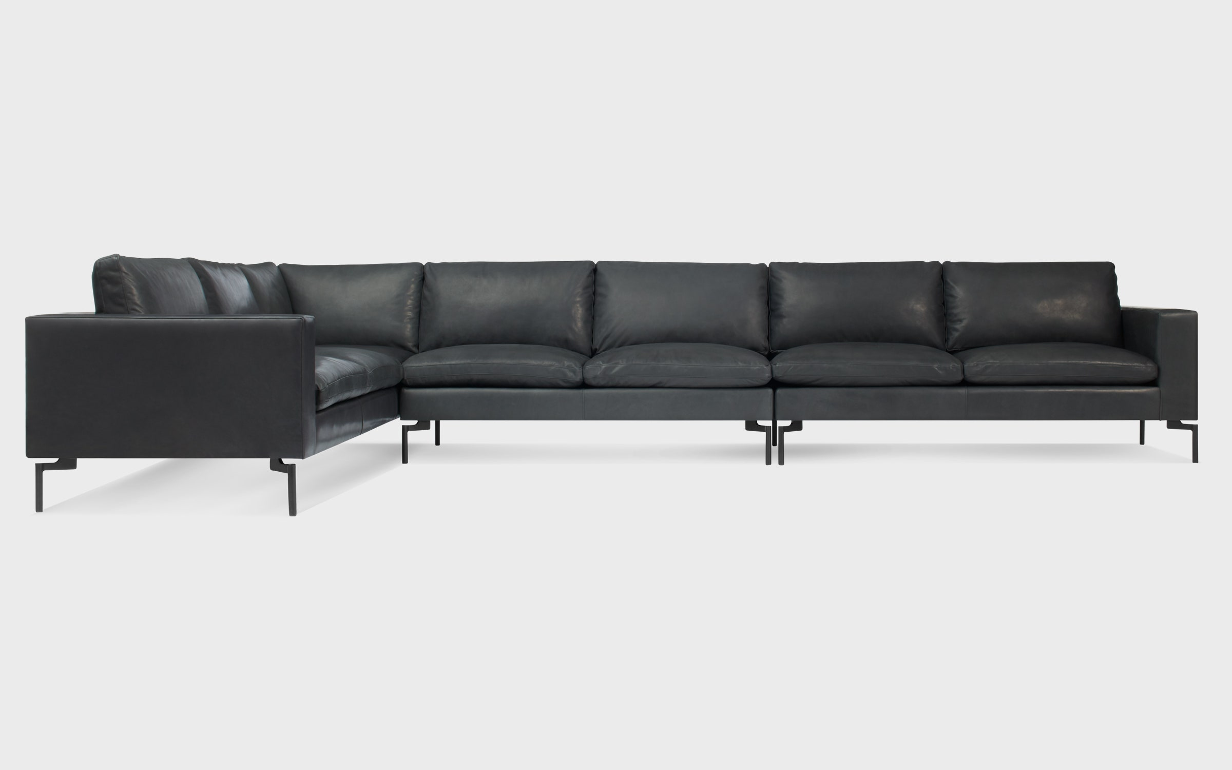 New Standard Left Leather Sectional Sofa - Large