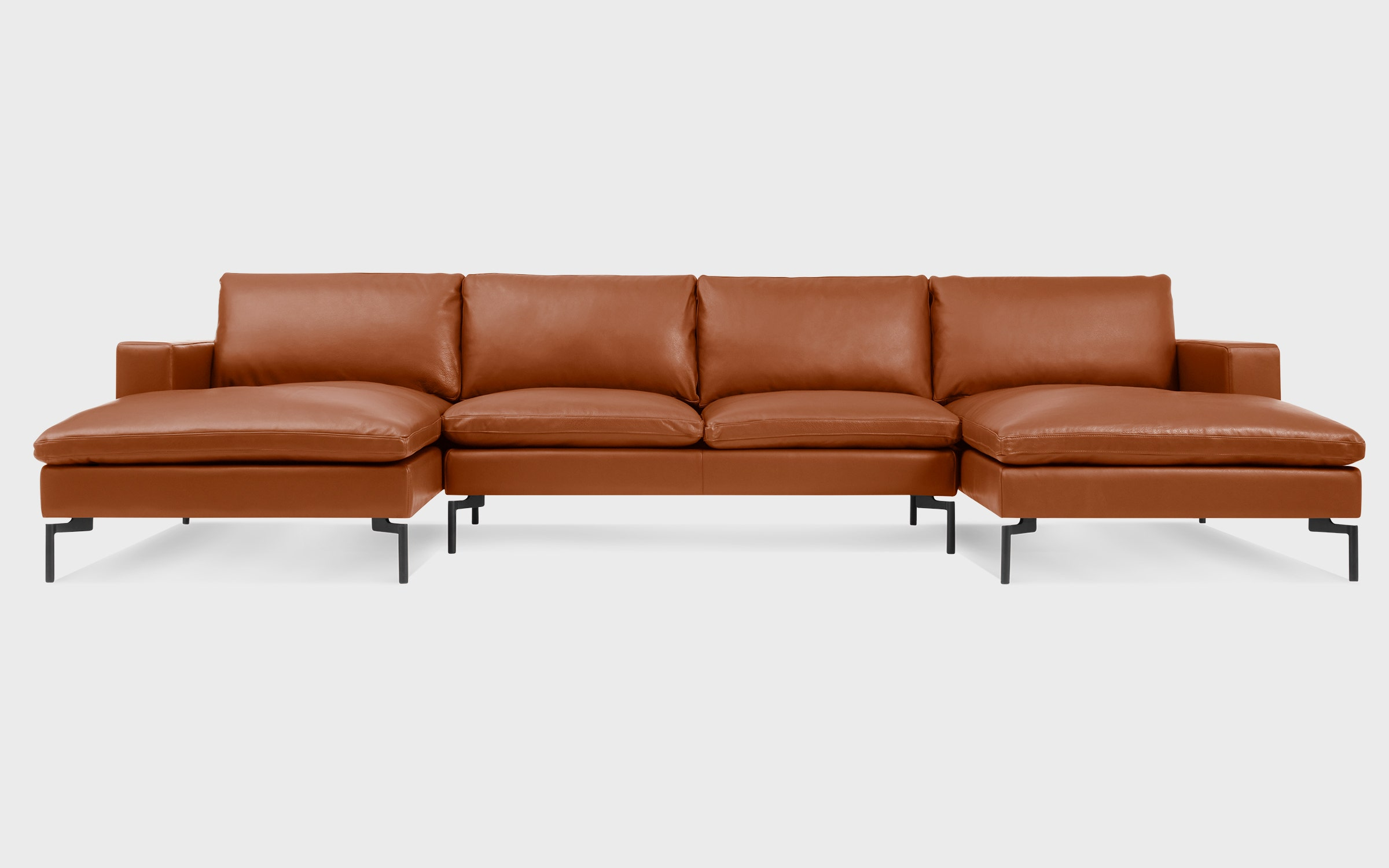 Exceptionnel New Standard U Shaped Leather Sectional Sofa