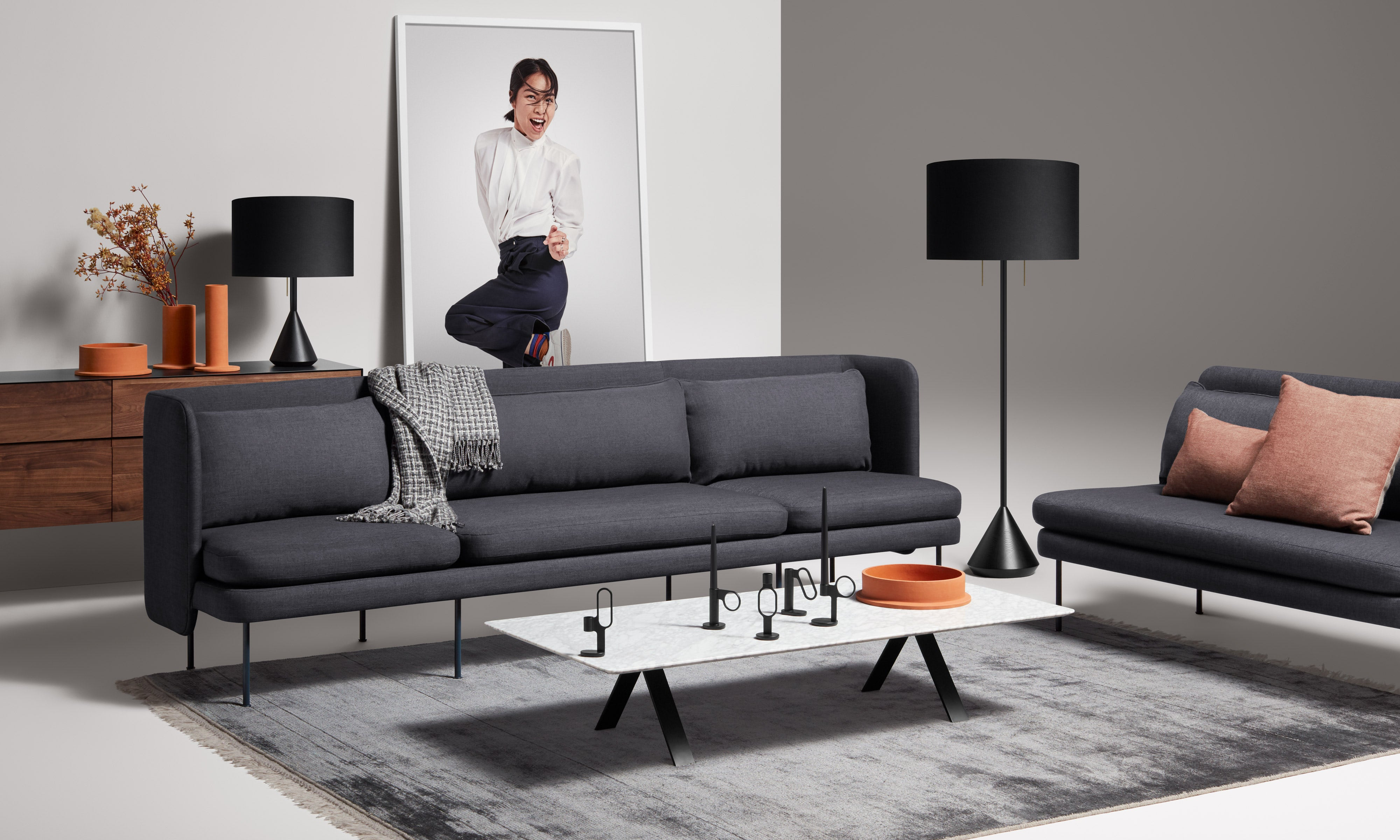 Bloke Modern Sofa by Blu Dot