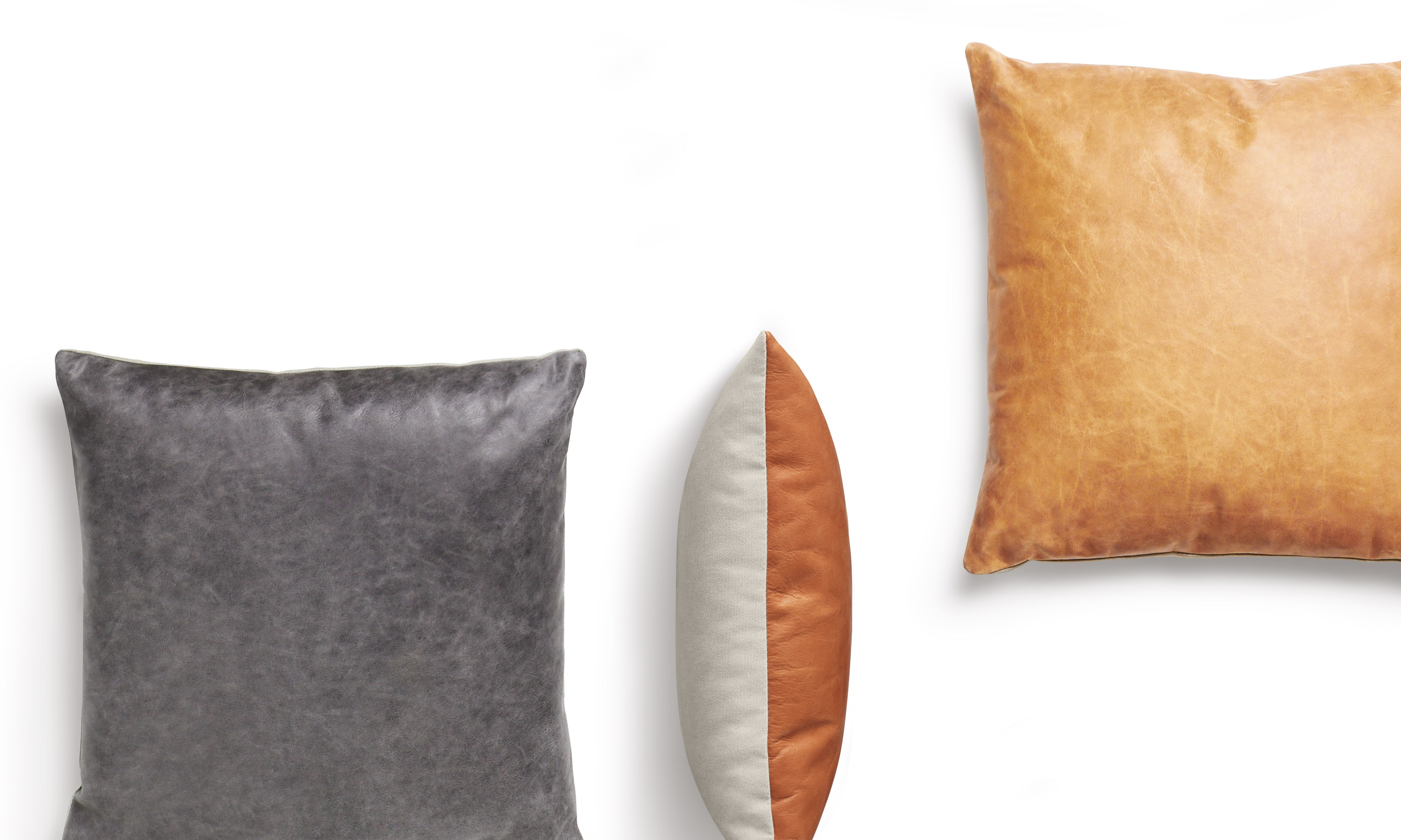 Signal Leather Pillows