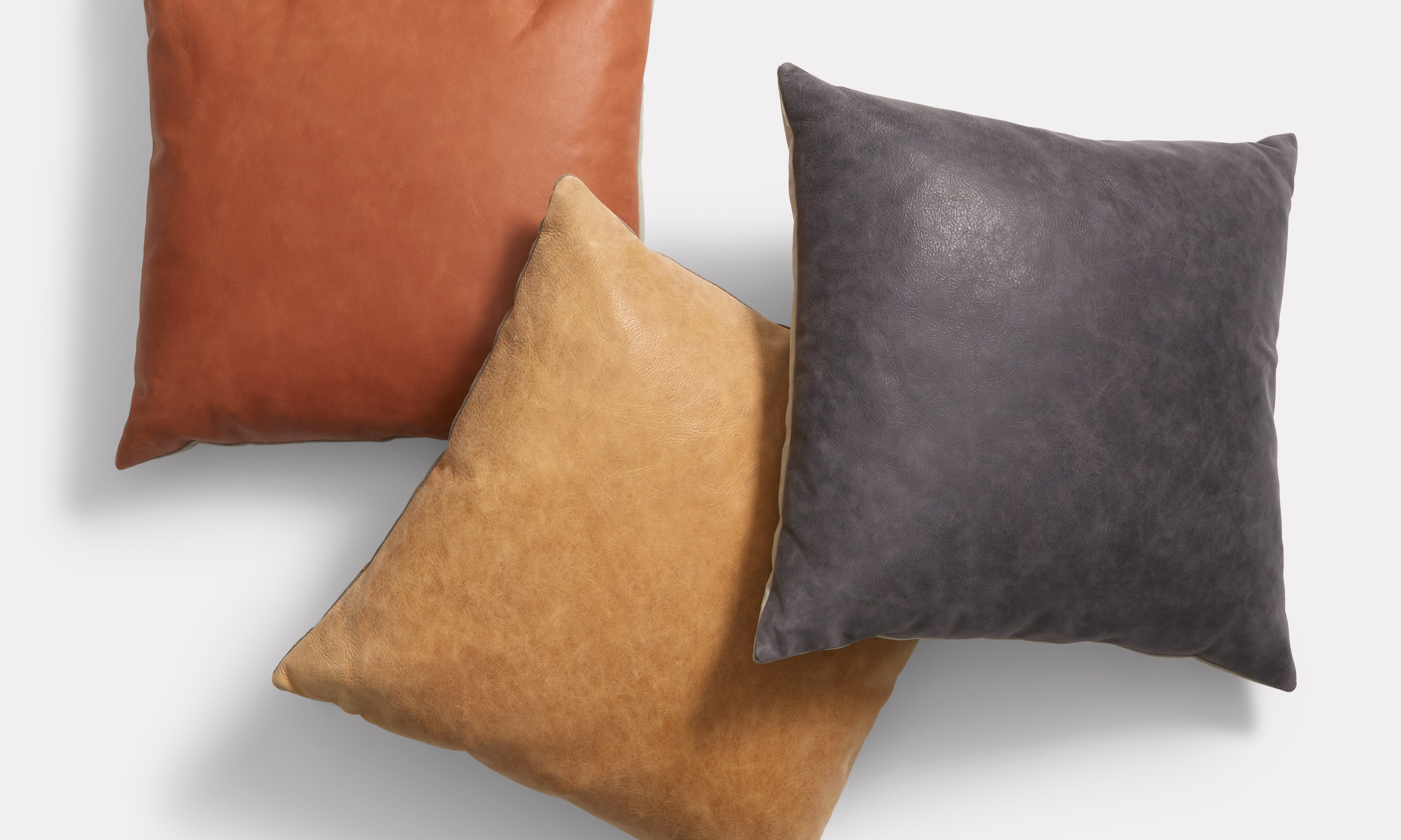 Signal Square Leather Pillow - Modern Pillows | Blu Dot