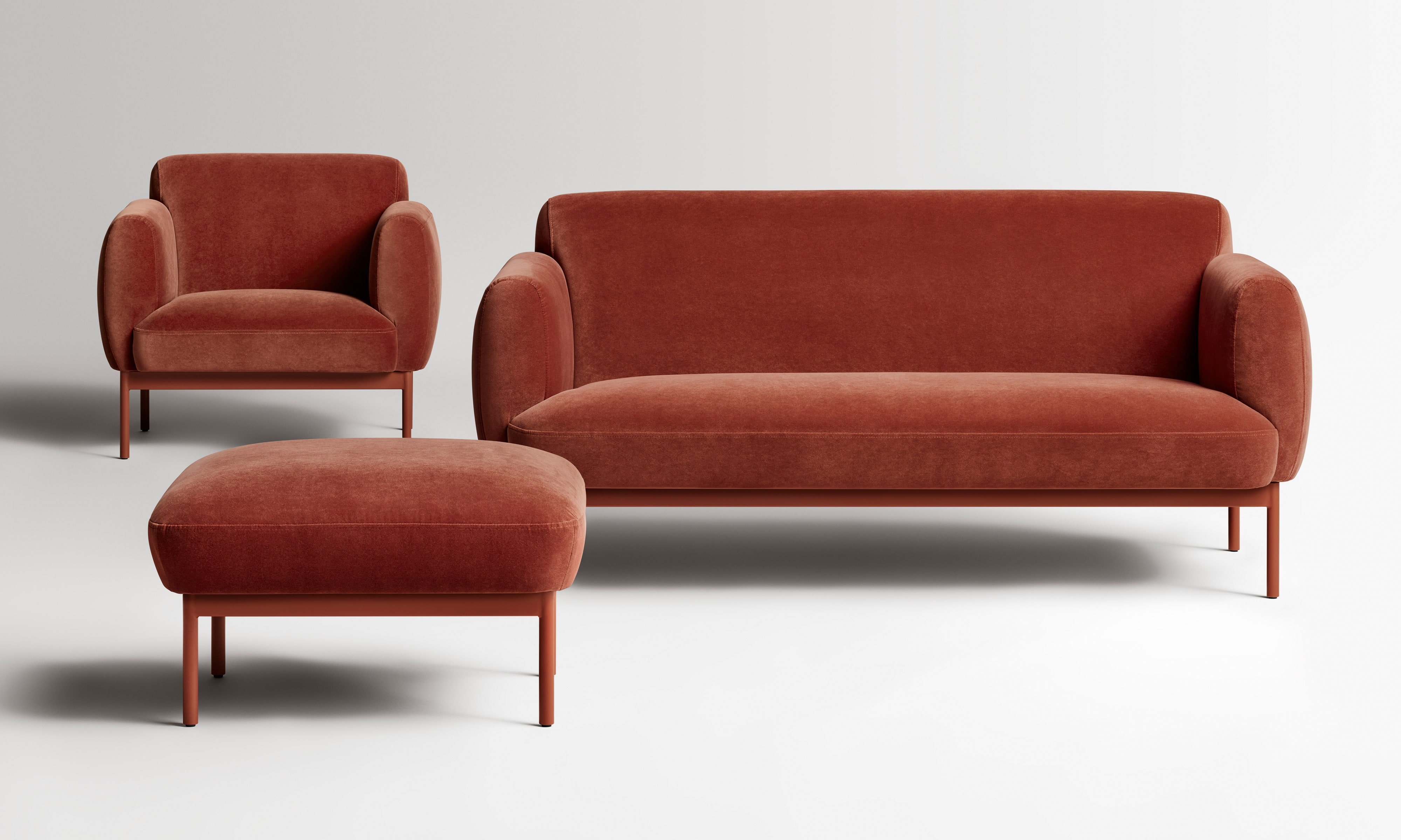 Puff Modern Velvet Sofa