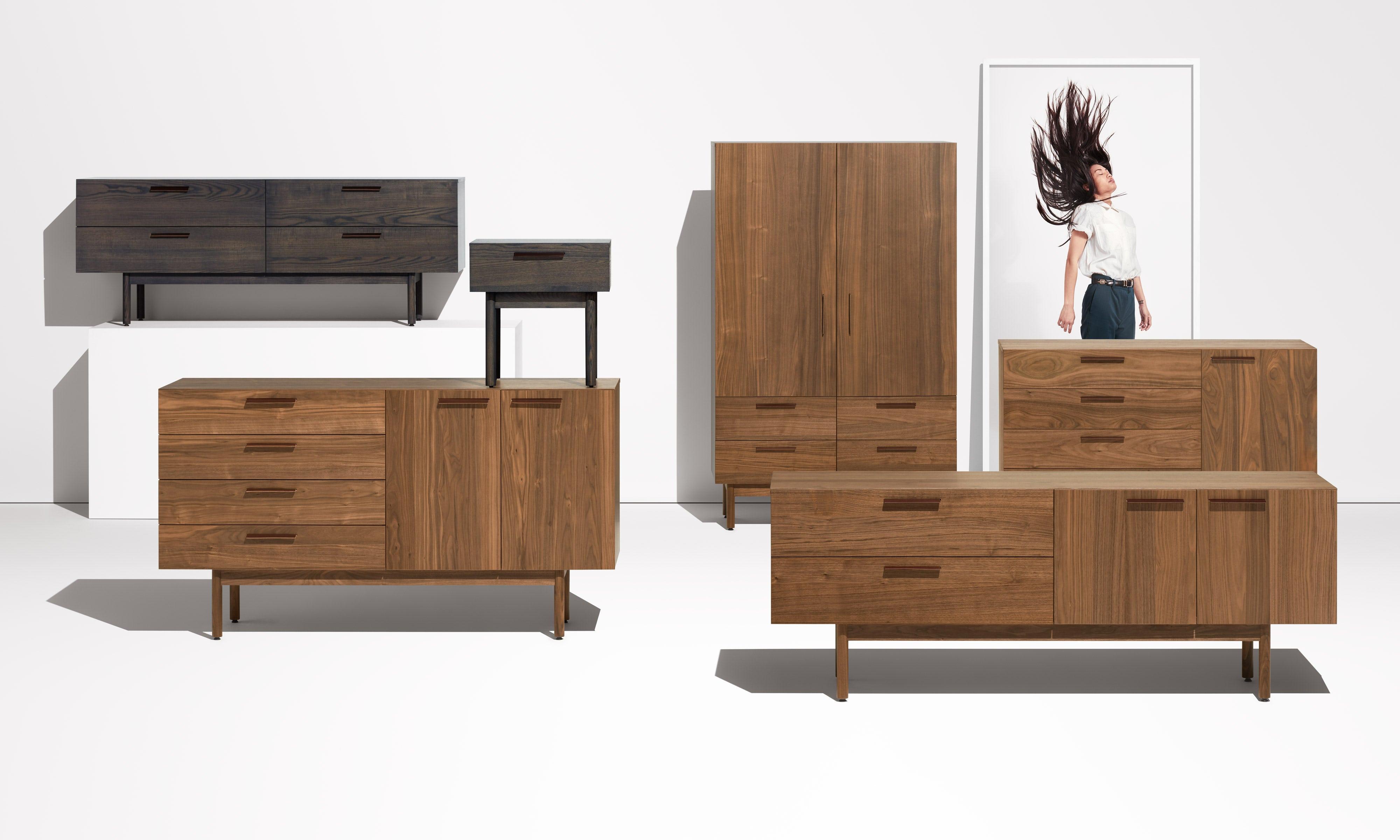 Shale Modern Wood Bedside Table by Blu Dot