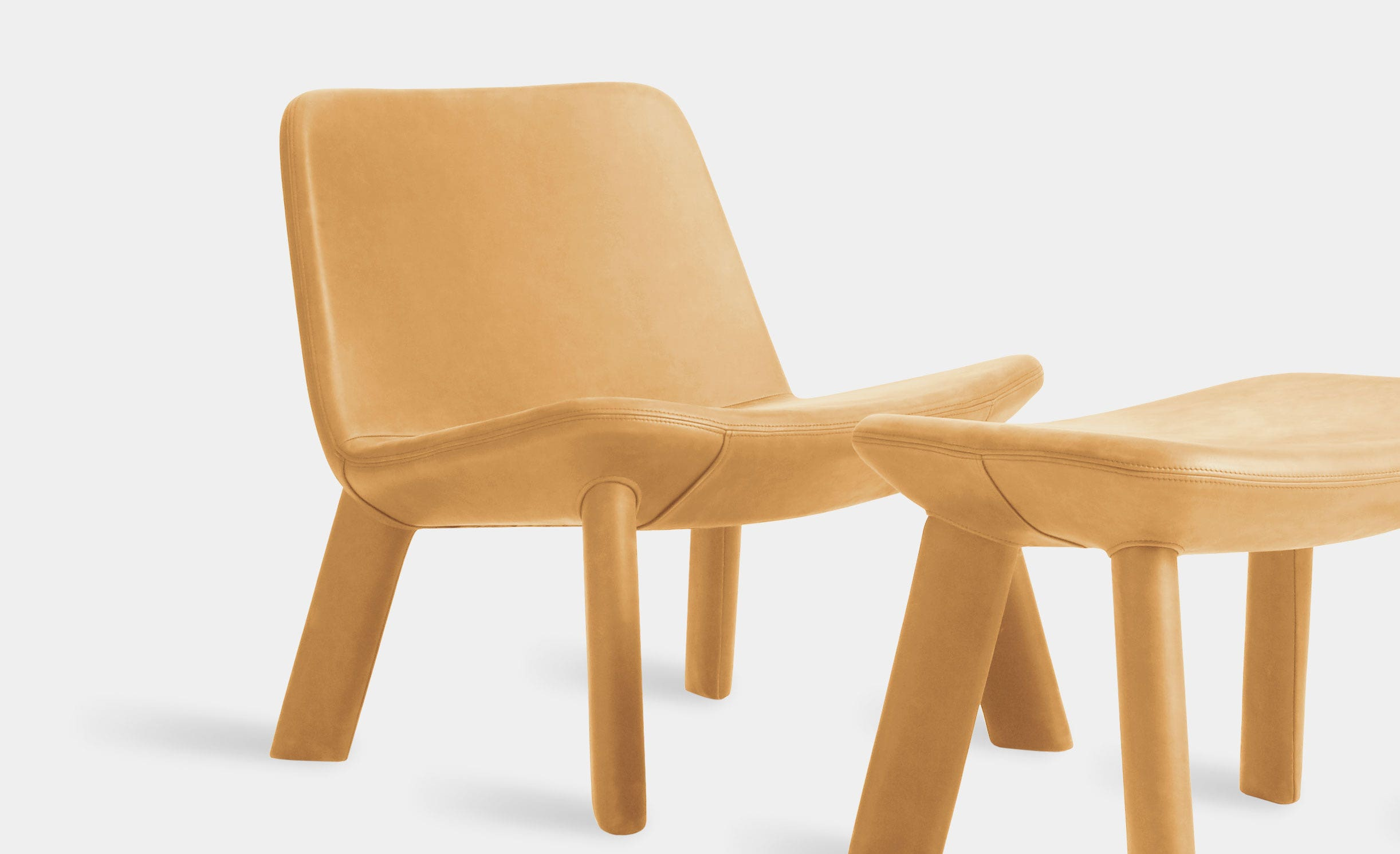 Neat Leather Lounge Chair by Blu Dot